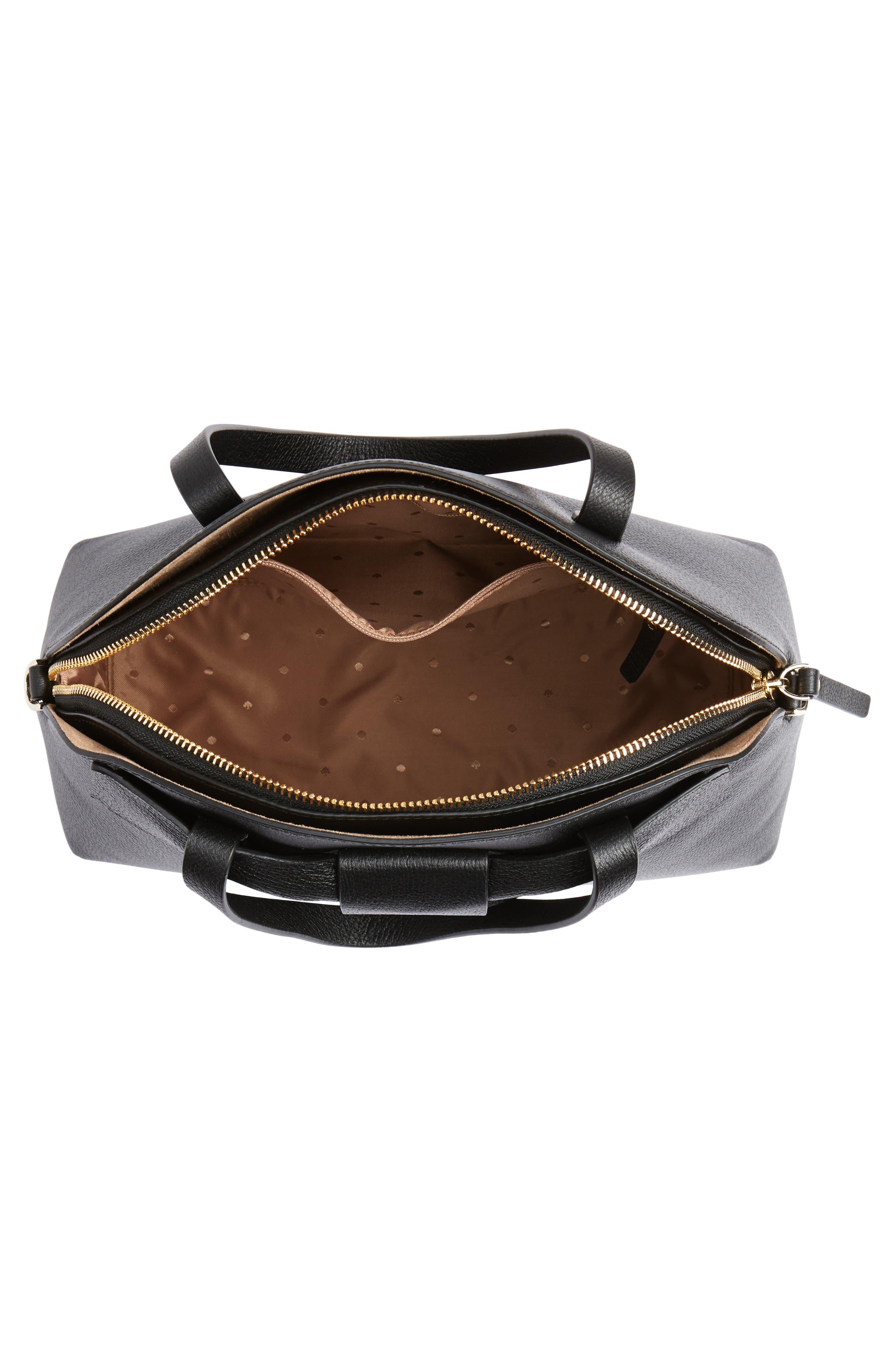 olive drive lottie leather satchel,                             Alternate thumbnail 7, color,