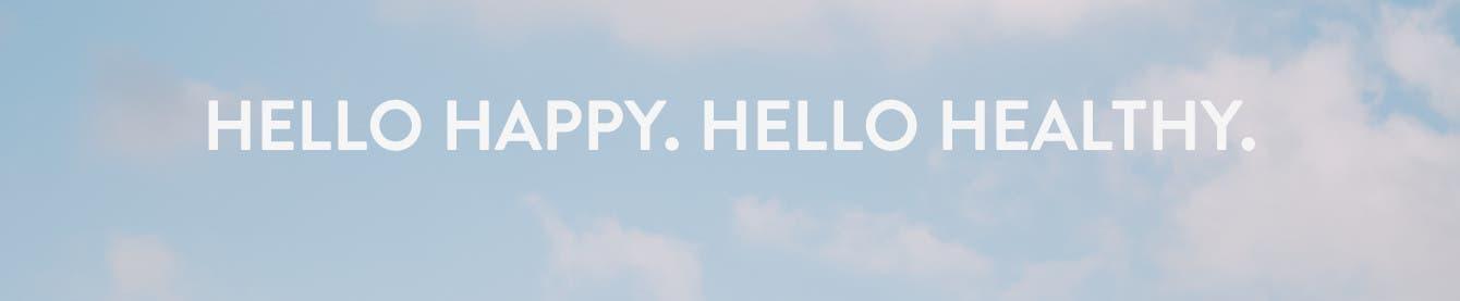 Hello Happy. Hello Healthy. Wellness guide.