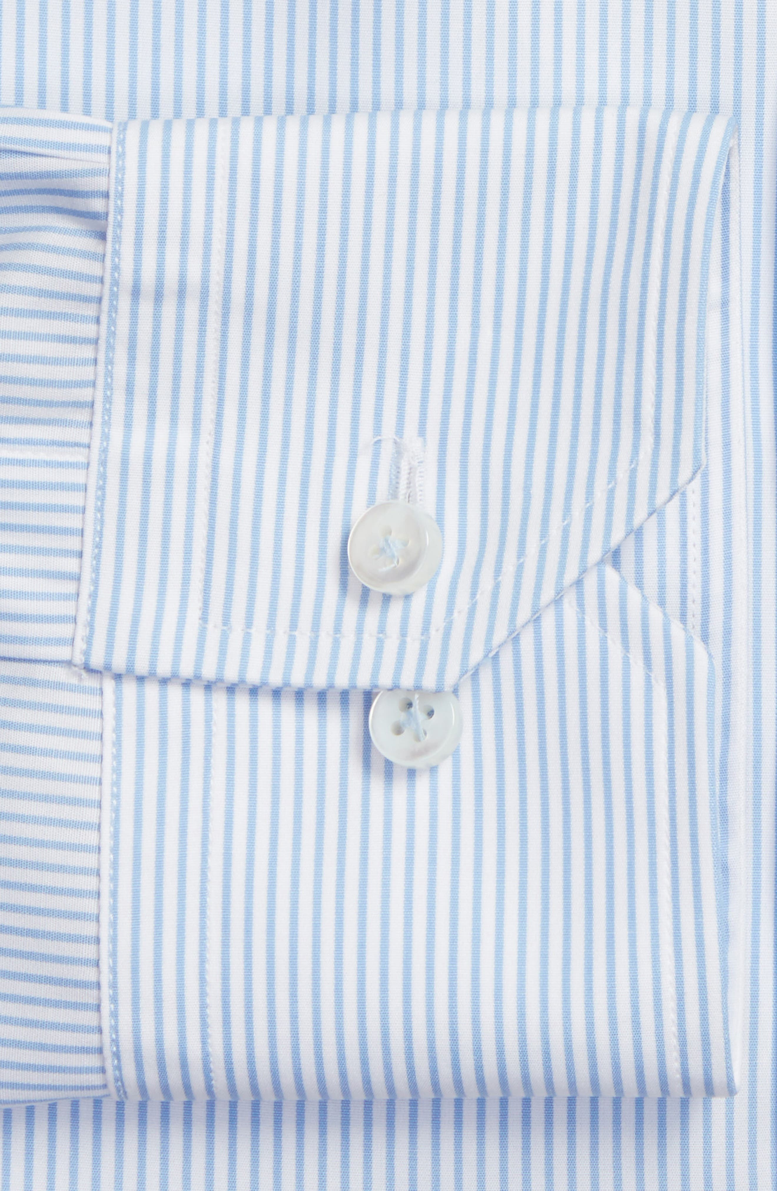 Tailored Fit Stripe Dress Shirt,                             Alternate thumbnail 2, color,                             SKY