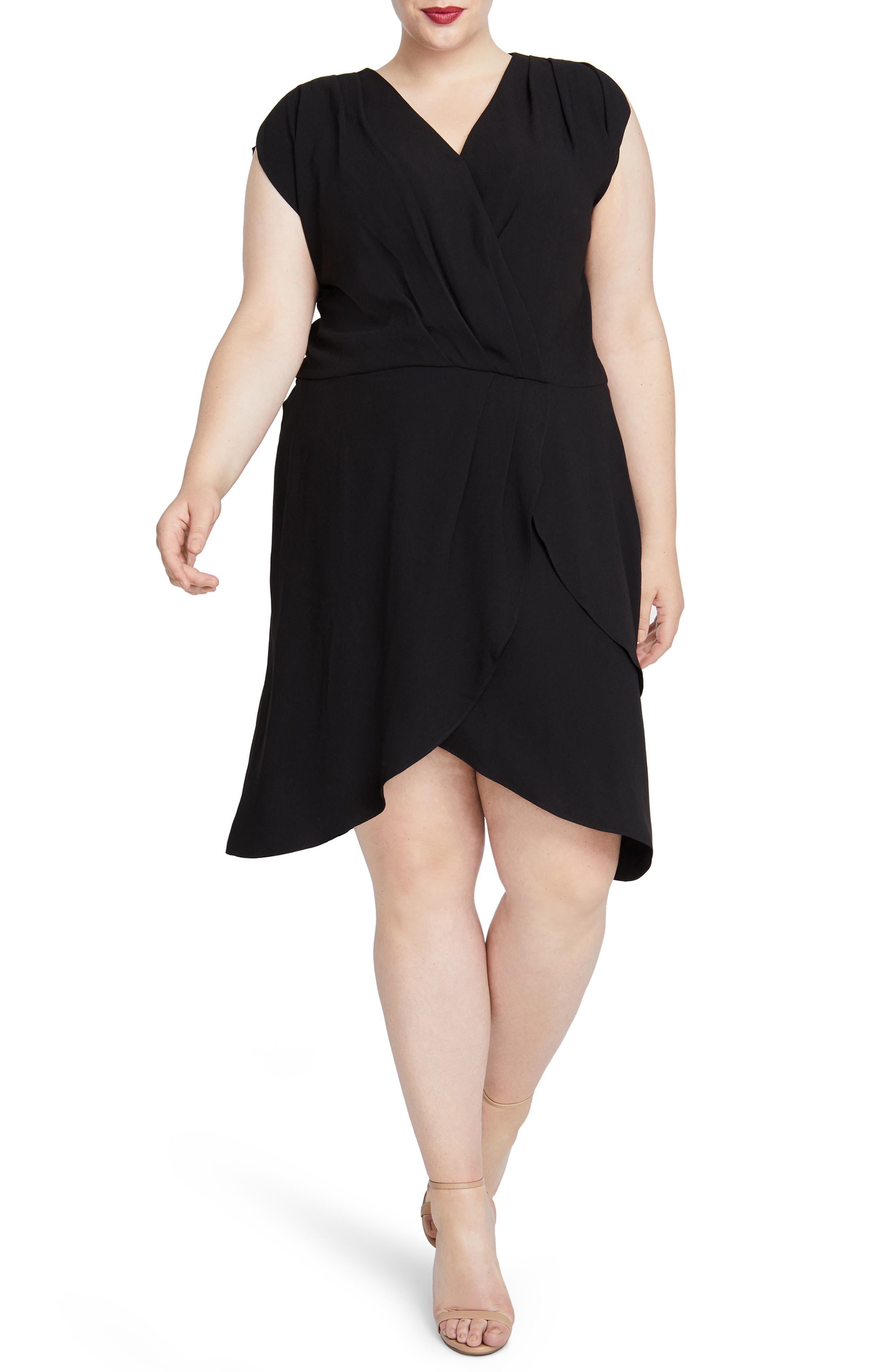Plus Size Rachel Rachel Roy Pierce Faux Wrap Dress, Black