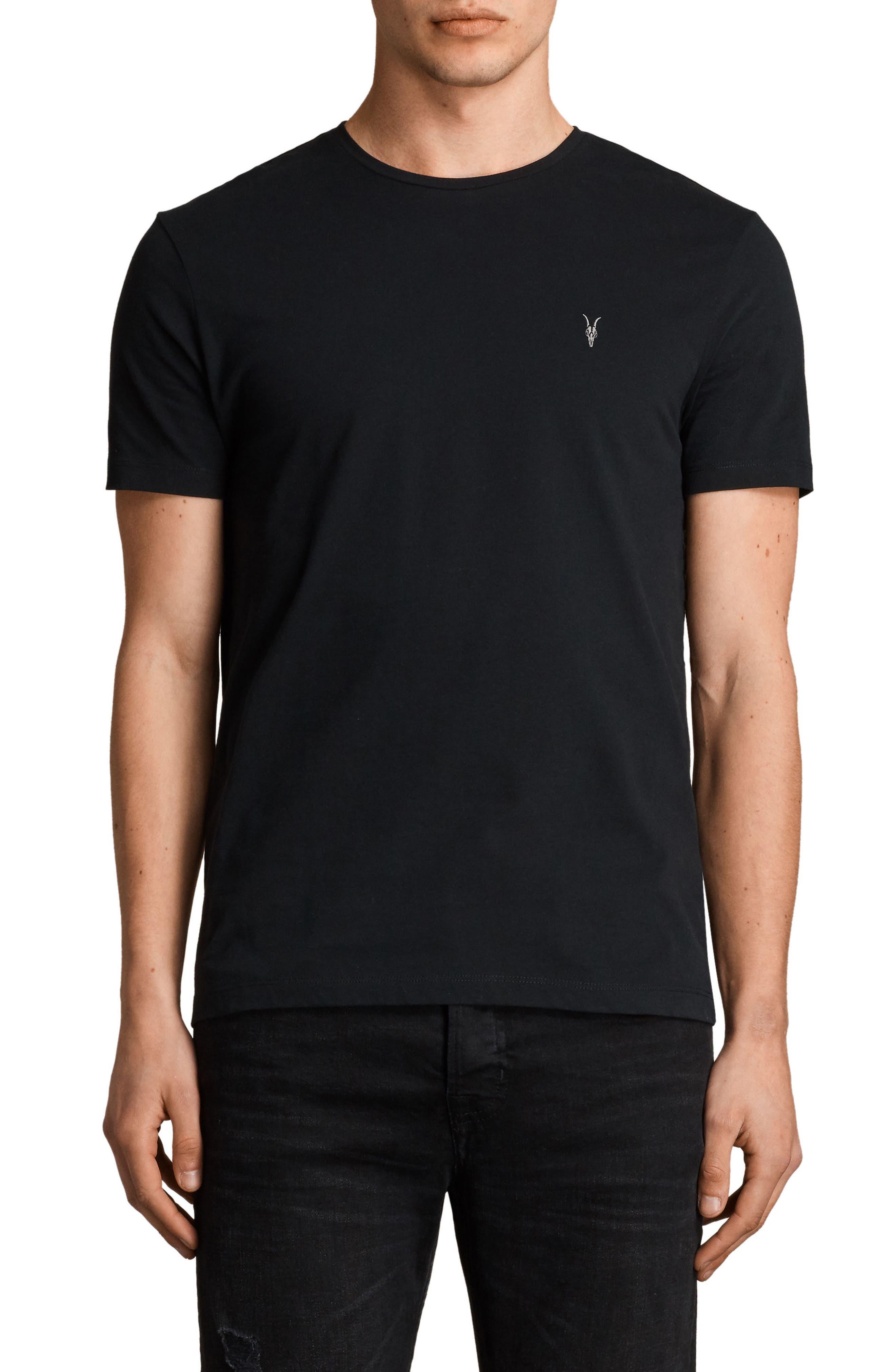 Brace Tonic Slim Fit Crewneck T-Shirt,                         Main,                         color, JET BLACK