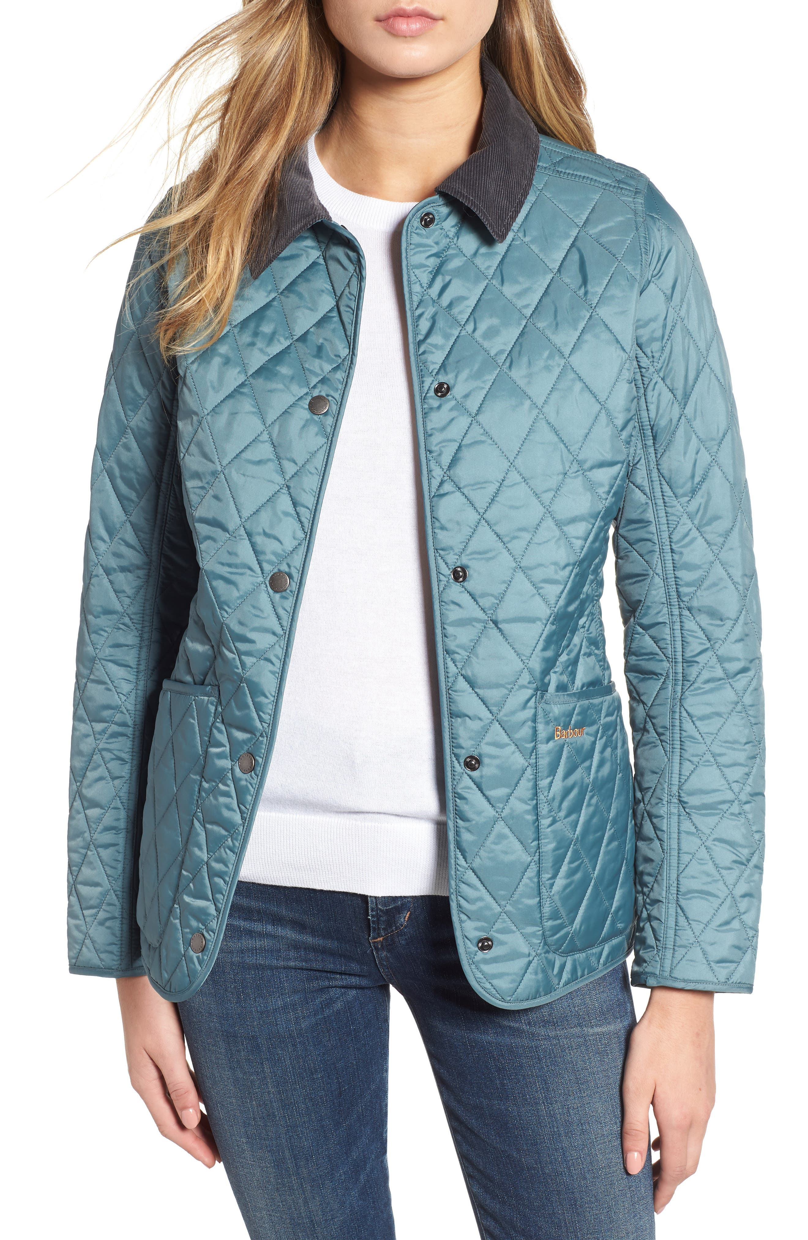 Annandale Quilted Jacket,                         Main,                         color, EUCALYPTUS