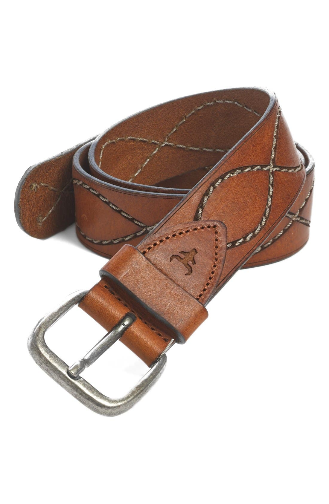 'Shilo' Belt,                             Main thumbnail 1, color,                             SADDLE TAN STEER