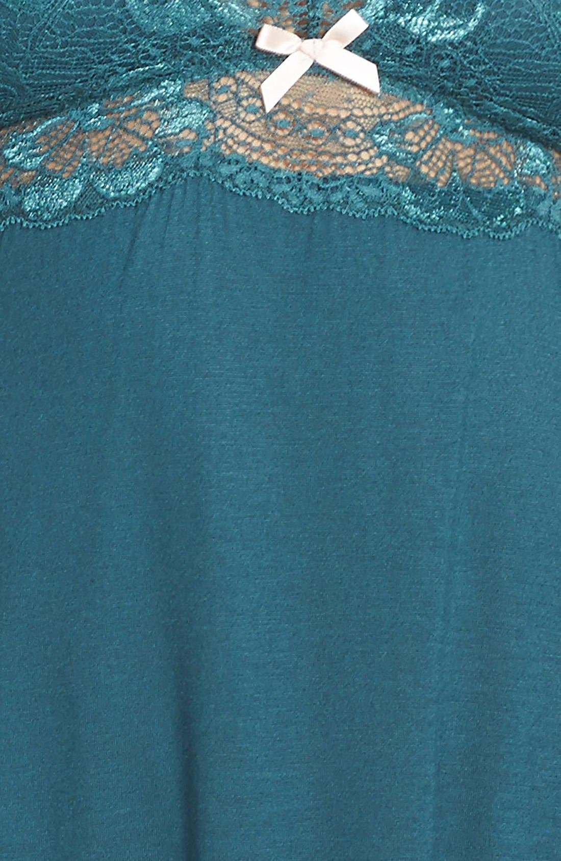 'Everly' Brushed Jersey Racerback Chemise,                             Alternate thumbnail 4, color,