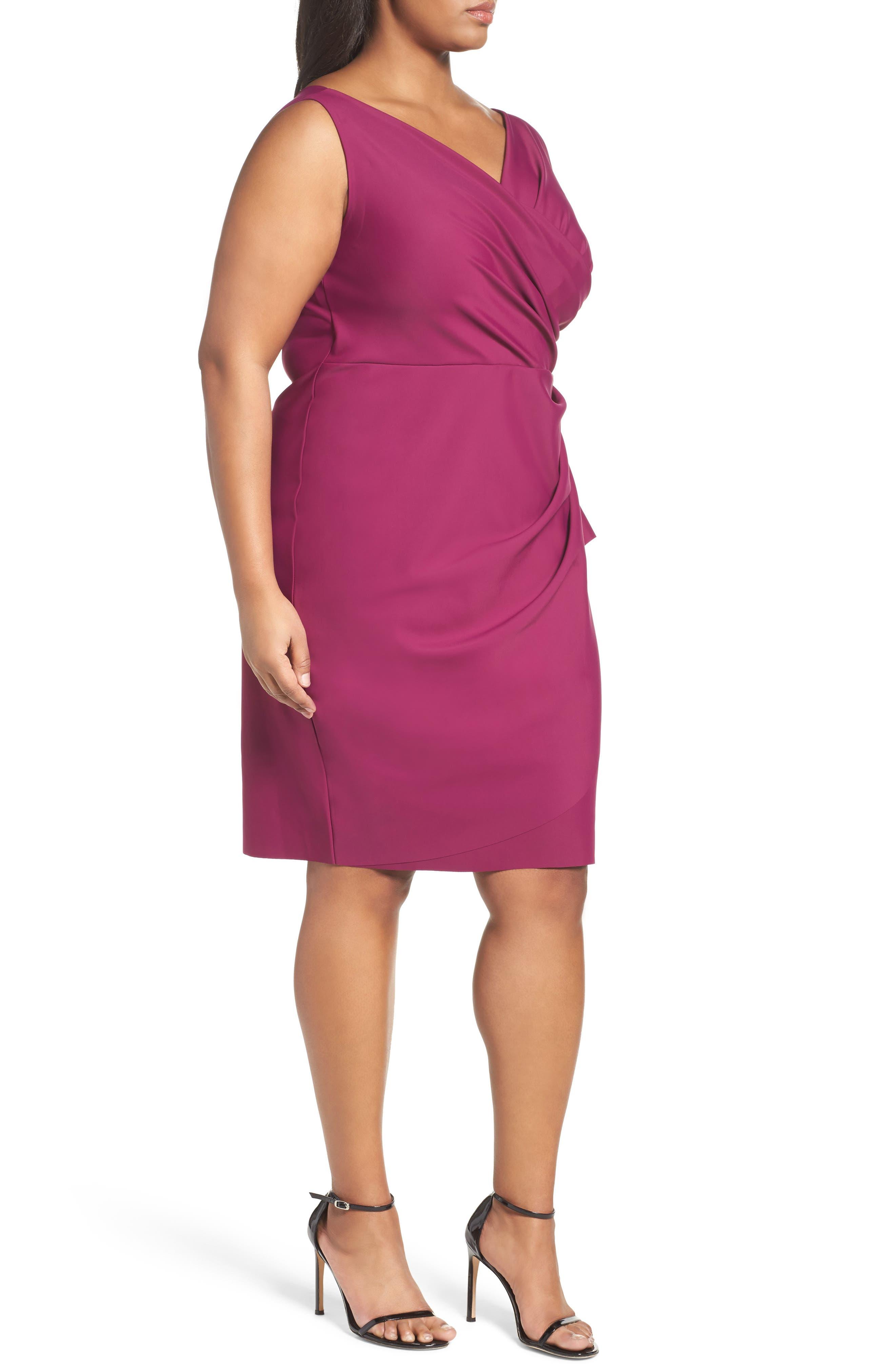 Embellished Surplice Sheath Dress,                             Alternate thumbnail 21, color,