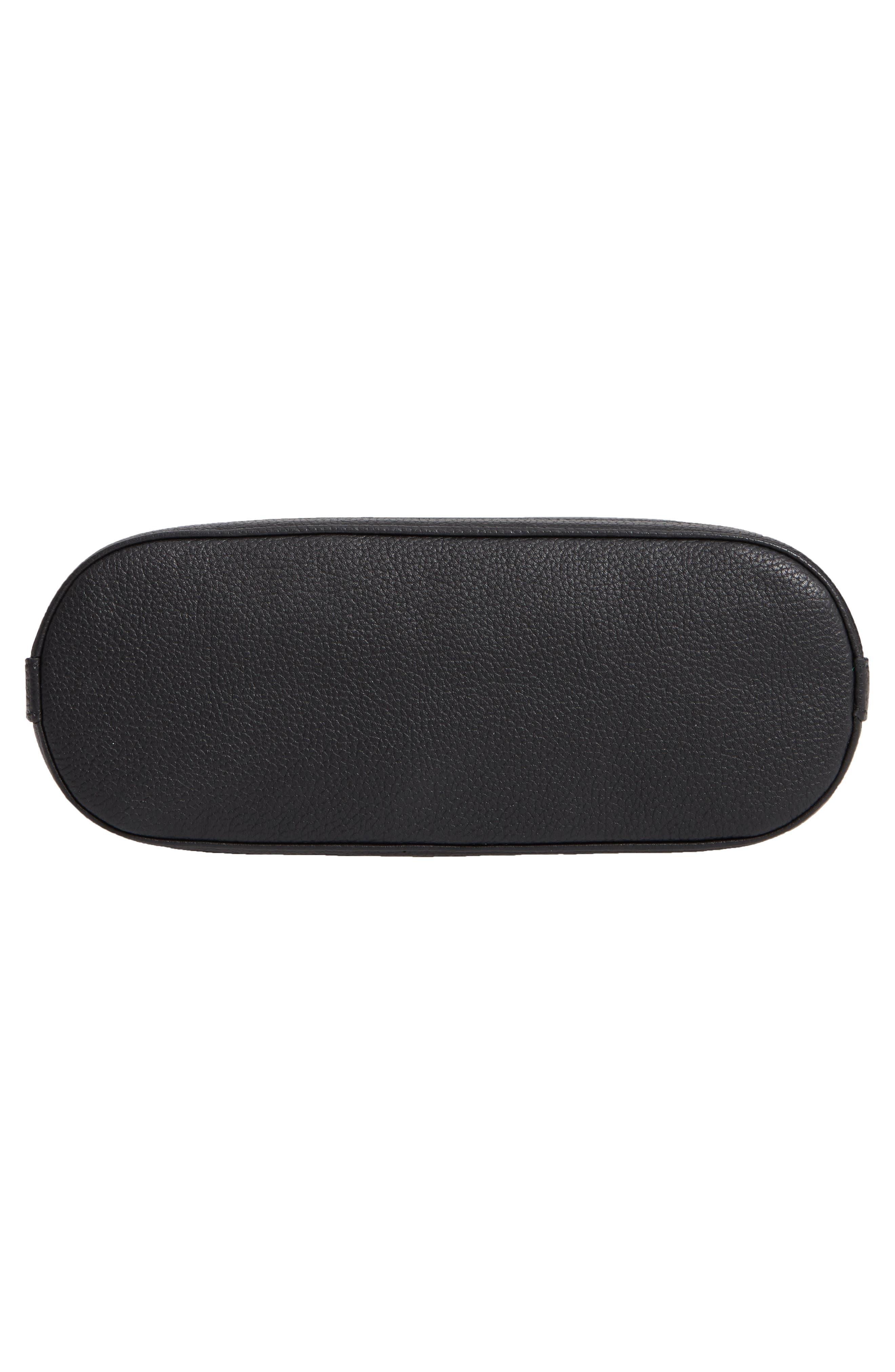 Maribel Leather Crossbody Bag,                             Alternate thumbnail 6, color,                             BLACK