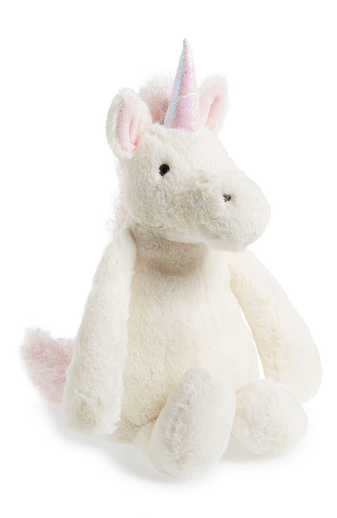 JELLYCAT,                             'Bashful Unicorn' Stuffed Animal,                             Alternate thumbnail 3, color,                             WHITE