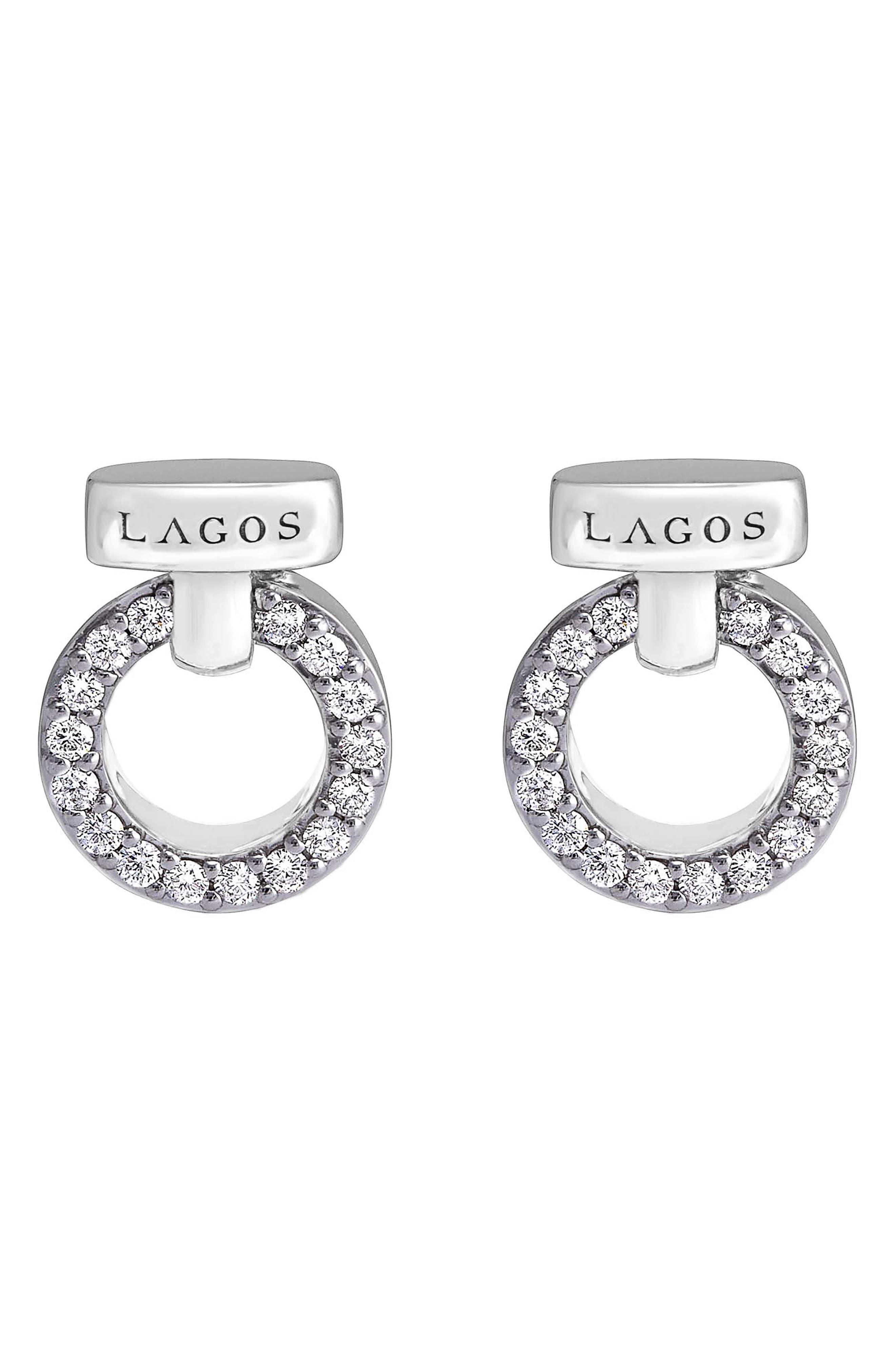 'Enso - Circle Game' Diamond Stud Earrings,                             Alternate thumbnail 2, color,                             SILVER