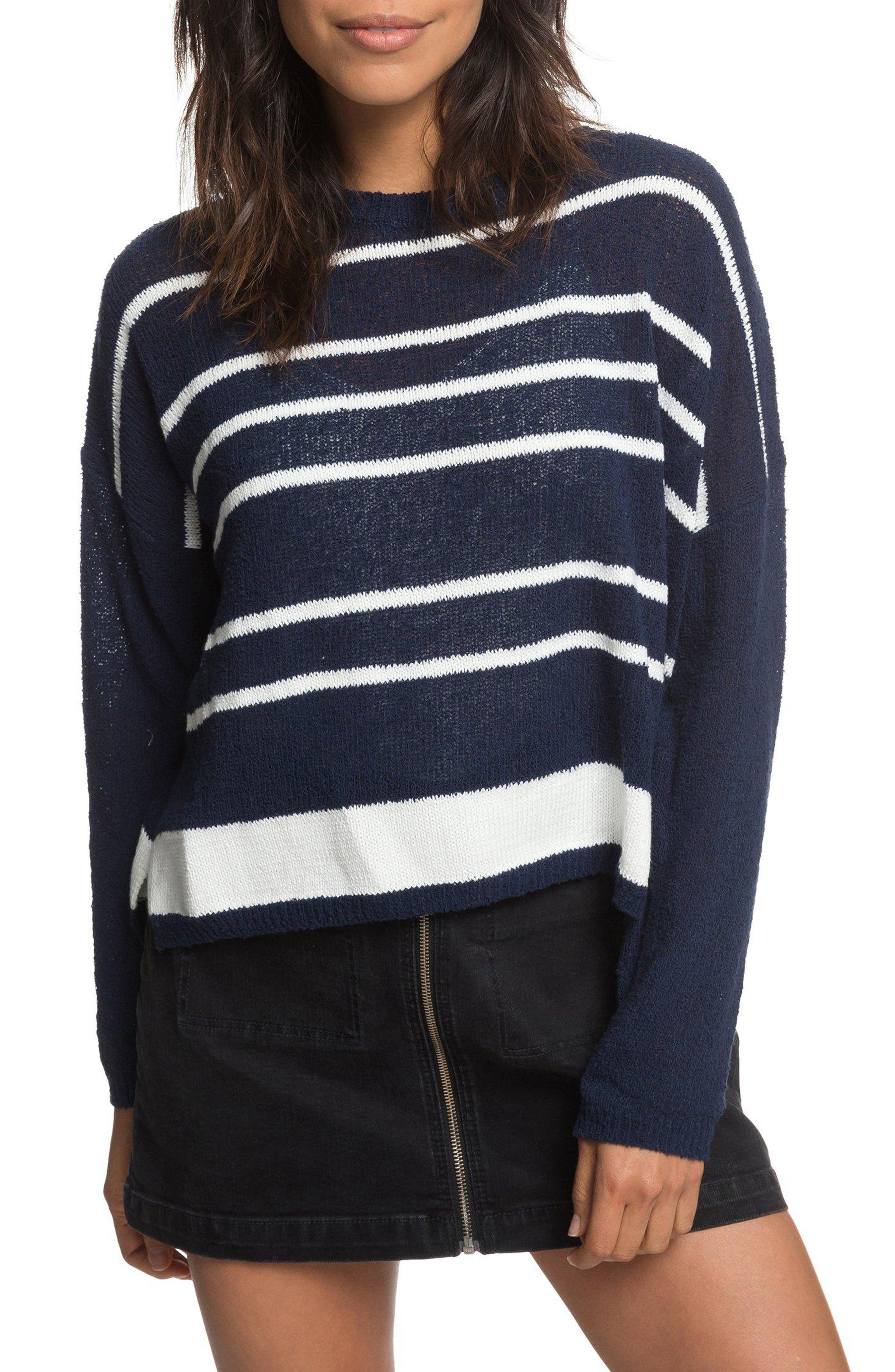 Variegated Stripe Boxy Sweater,                             Main thumbnail 1, color,                             400