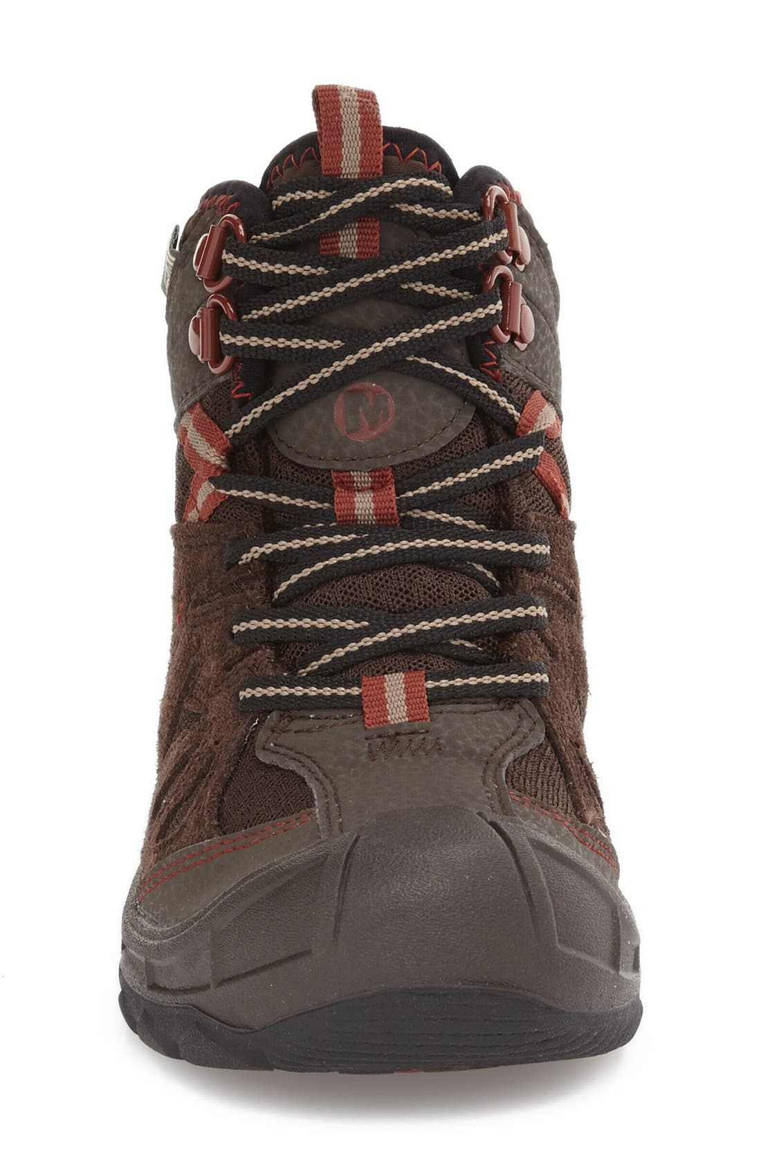 'Capra' Mid Waterproof Hiking Shoe,                             Alternate thumbnail 7, color,