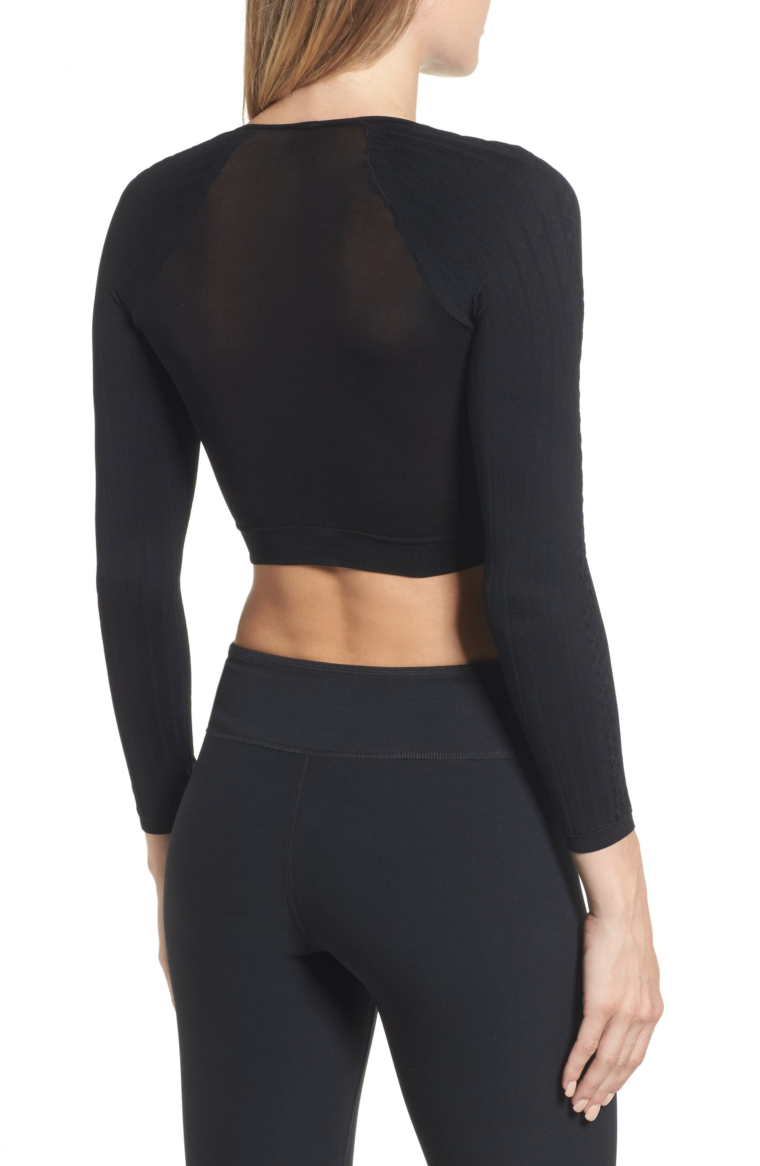 SPANX Arm Tights<sup>™</sup> Cable Layering Top,                             Alternate thumbnail 2, color,                             001
