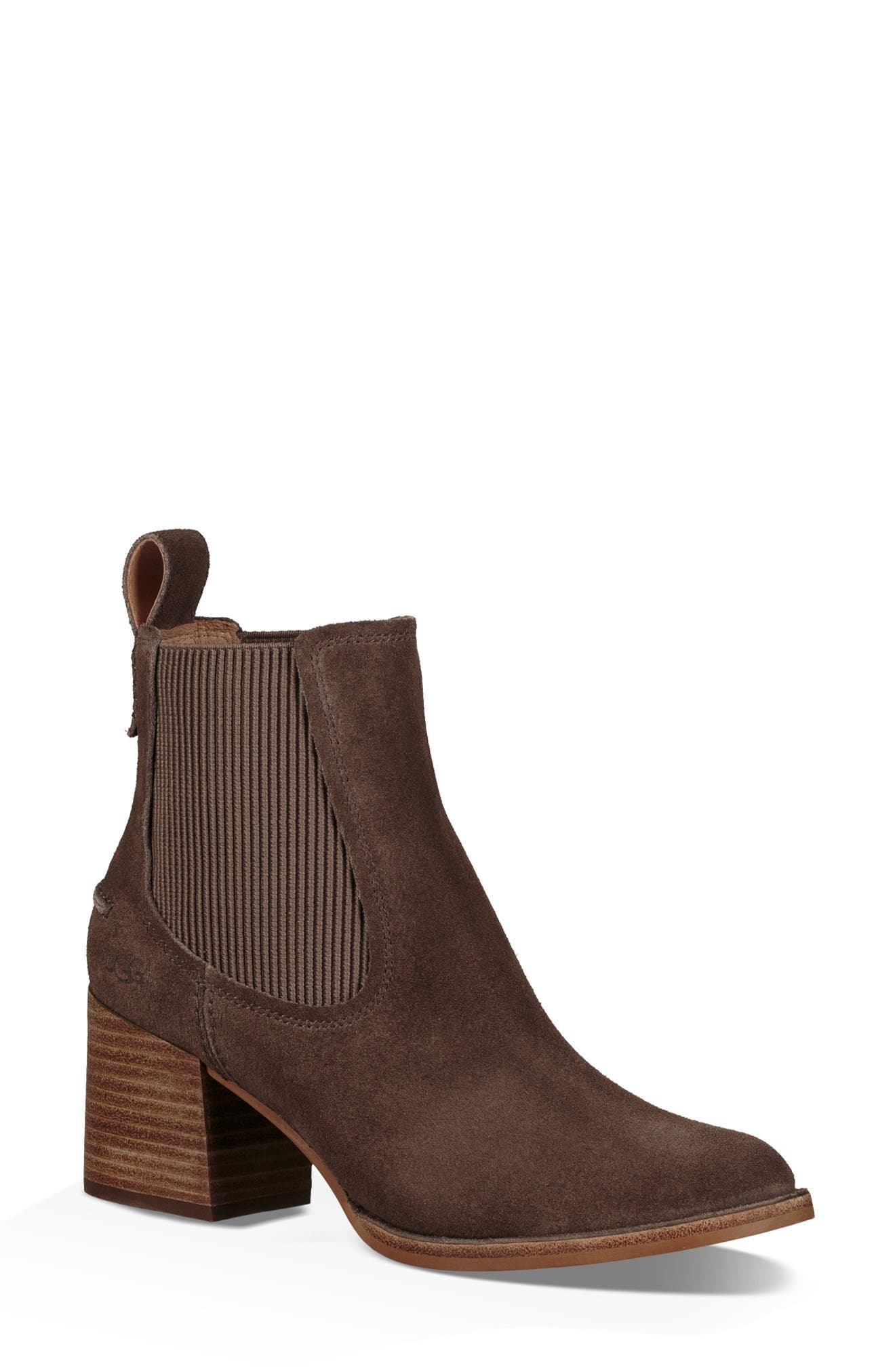 Faye Chelsea Bootie,                             Main thumbnail 1, color,                             MYSTERIOUS SUEDE