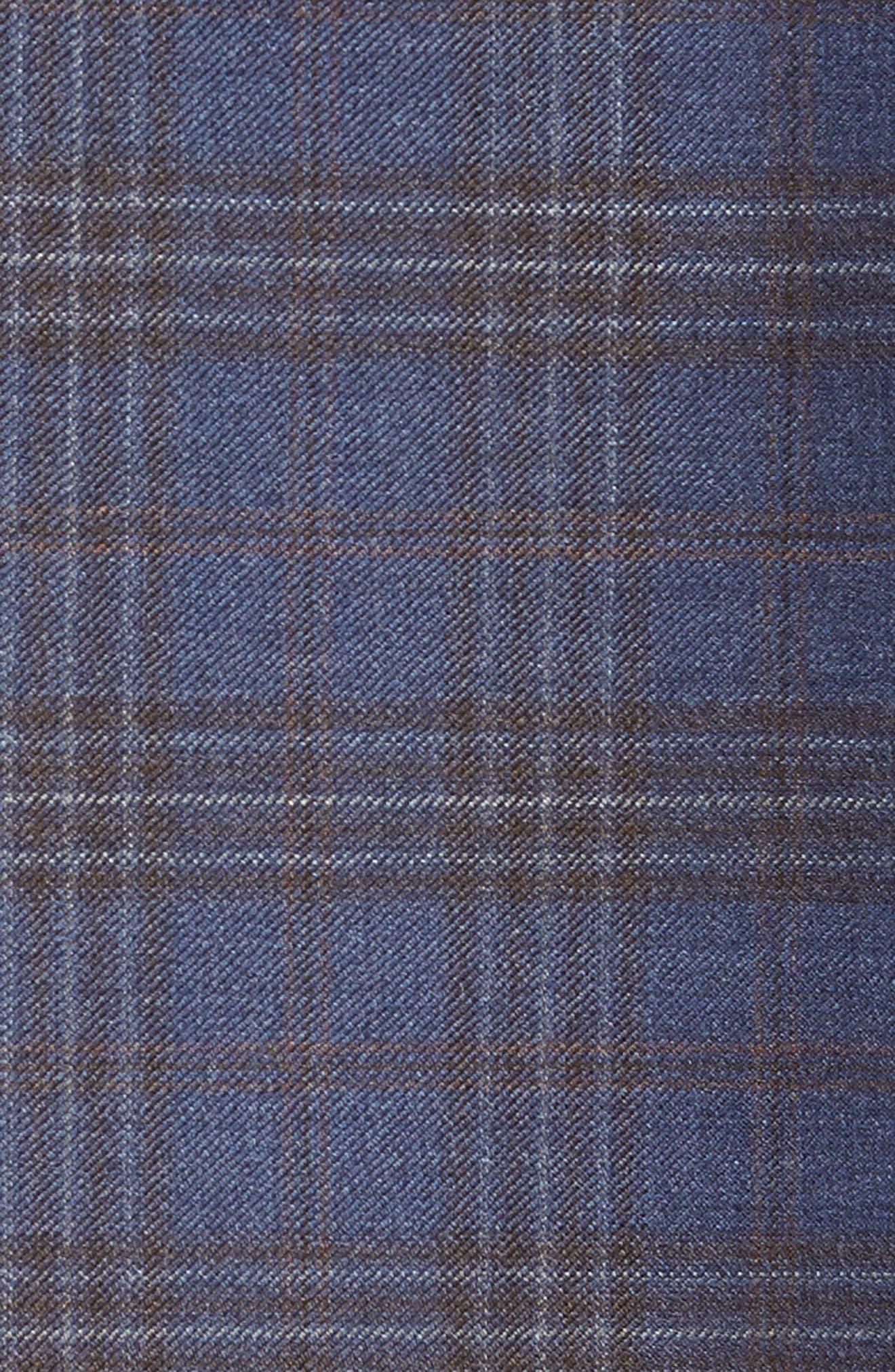 Flynn Classic Fit Plaid Wool Sport Coat,                             Alternate thumbnail 5, color,                             BLUE