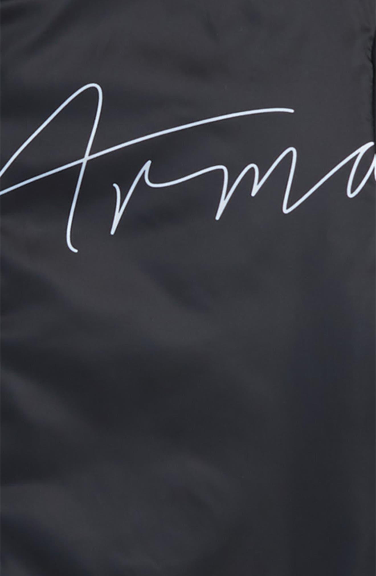 Armani Reversible Nylon Jacket,                             Alternate thumbnail 3, color,                             MULTI
