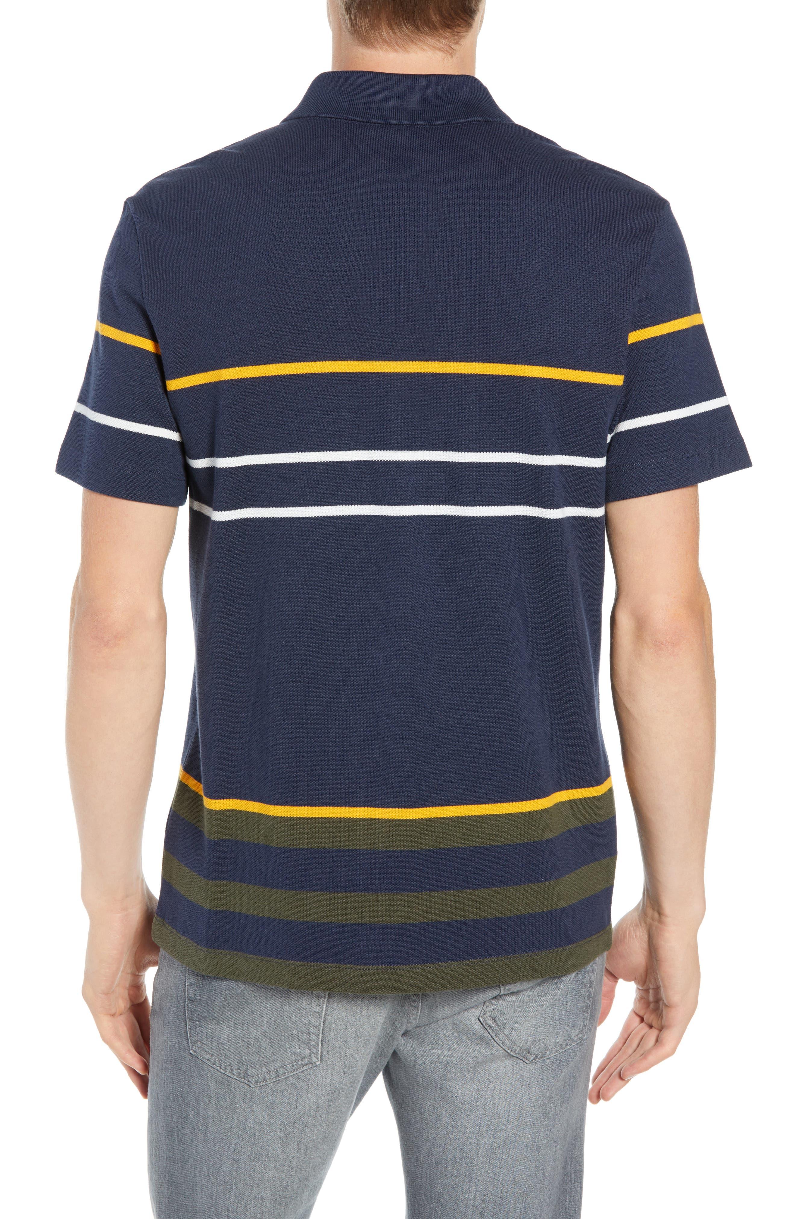 Regular Fit Stripe Cotton Polo,                             Alternate thumbnail 2, color,                             DS1 MERIDIAN BLUE/ BAOBAB-POME