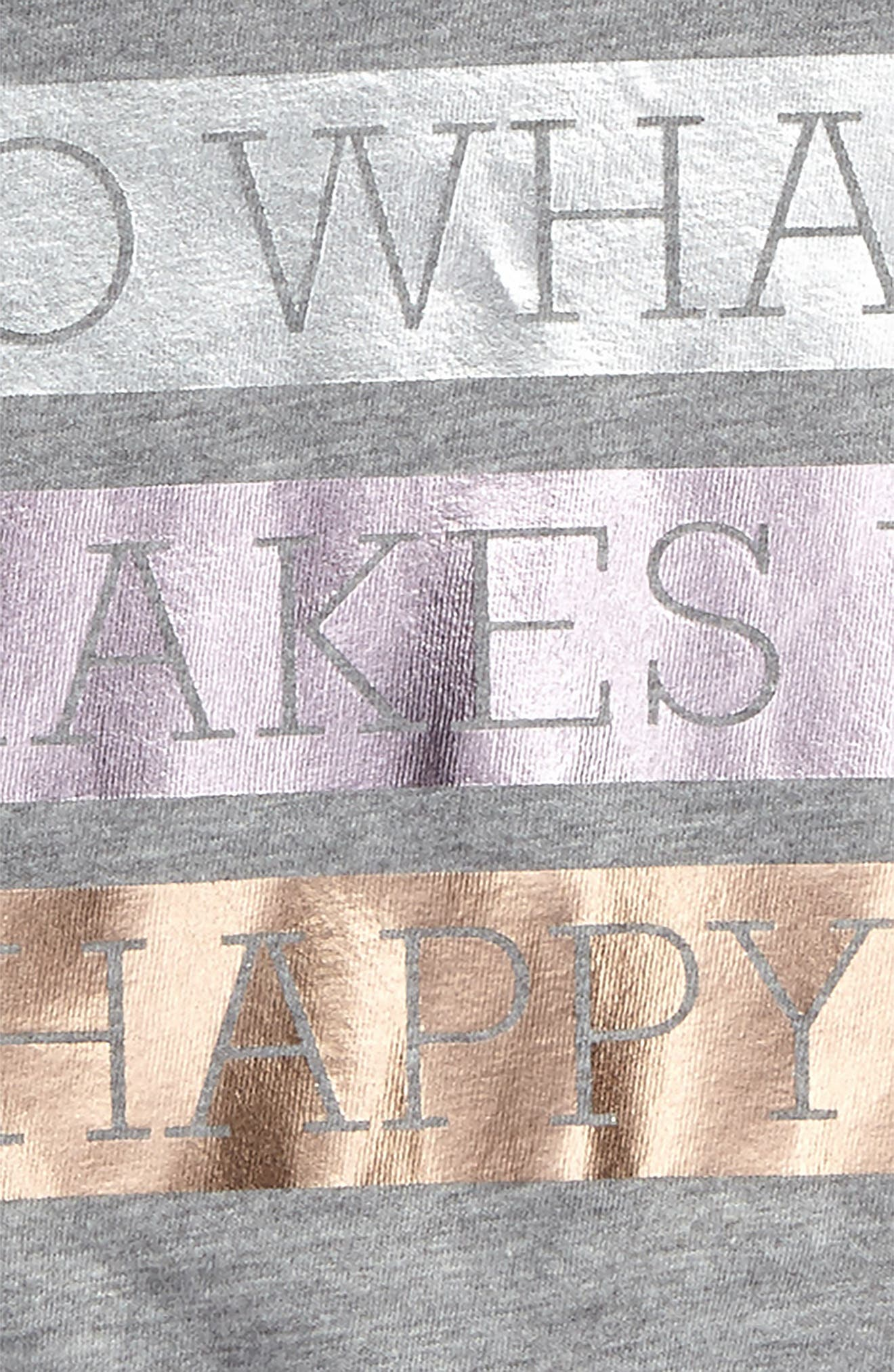 Do What Makes U Happy Tee,                             Alternate thumbnail 3, color,                             031
