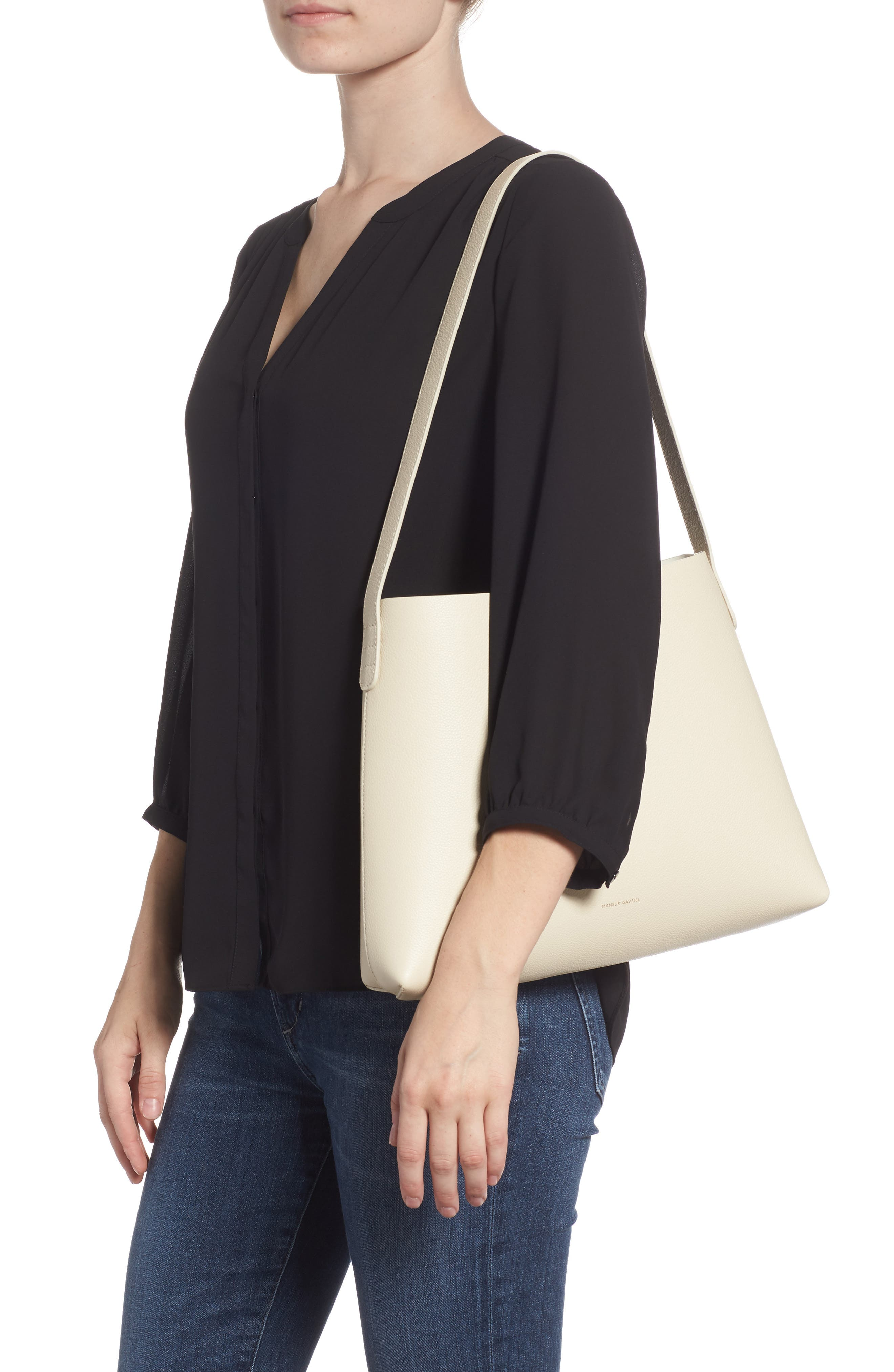 Small Pebbled Leather Hobo,                             Alternate thumbnail 2, color,                             900