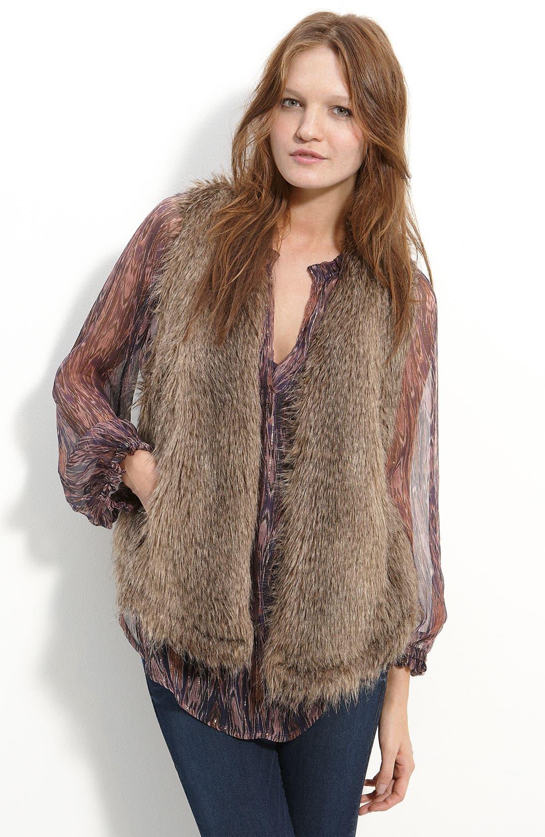 'Arabella' Faux Fur Vest, Main, color, 200