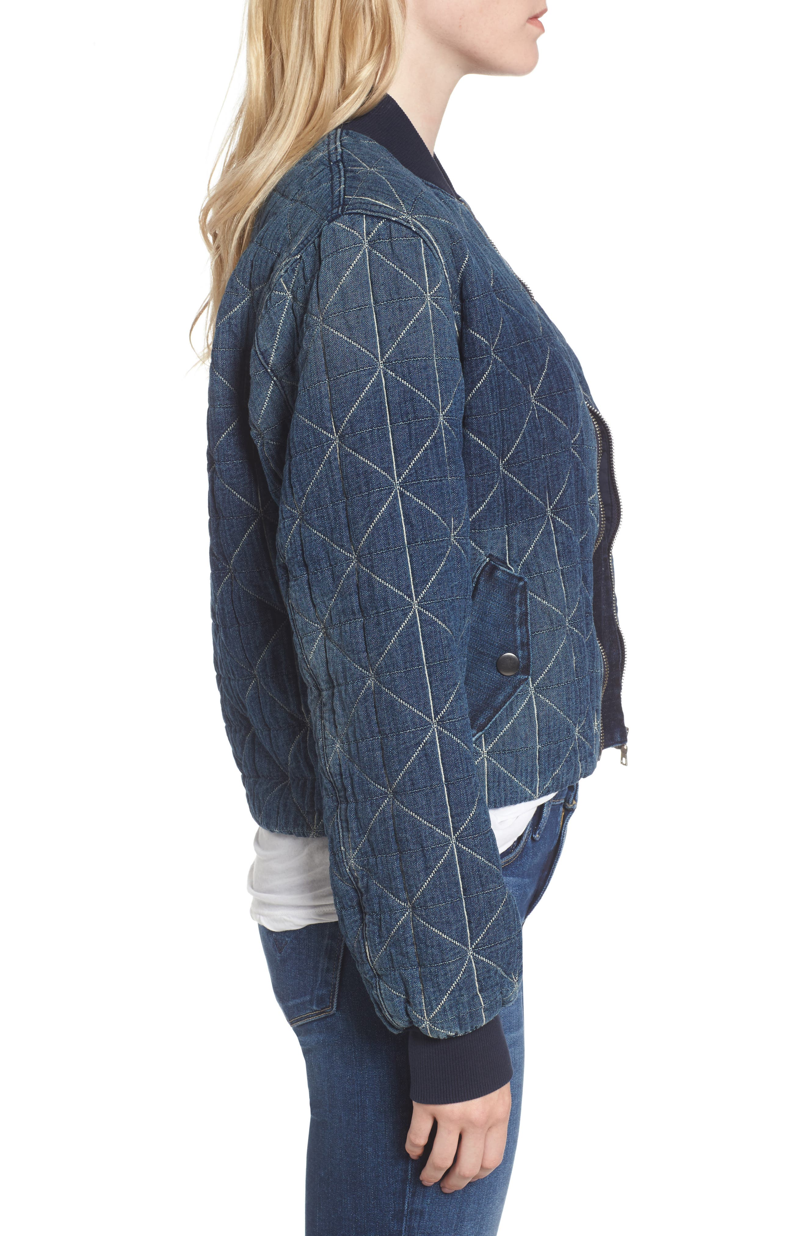 Gene Quilted Bomber Jacket,                             Alternate thumbnail 3, color,                             420