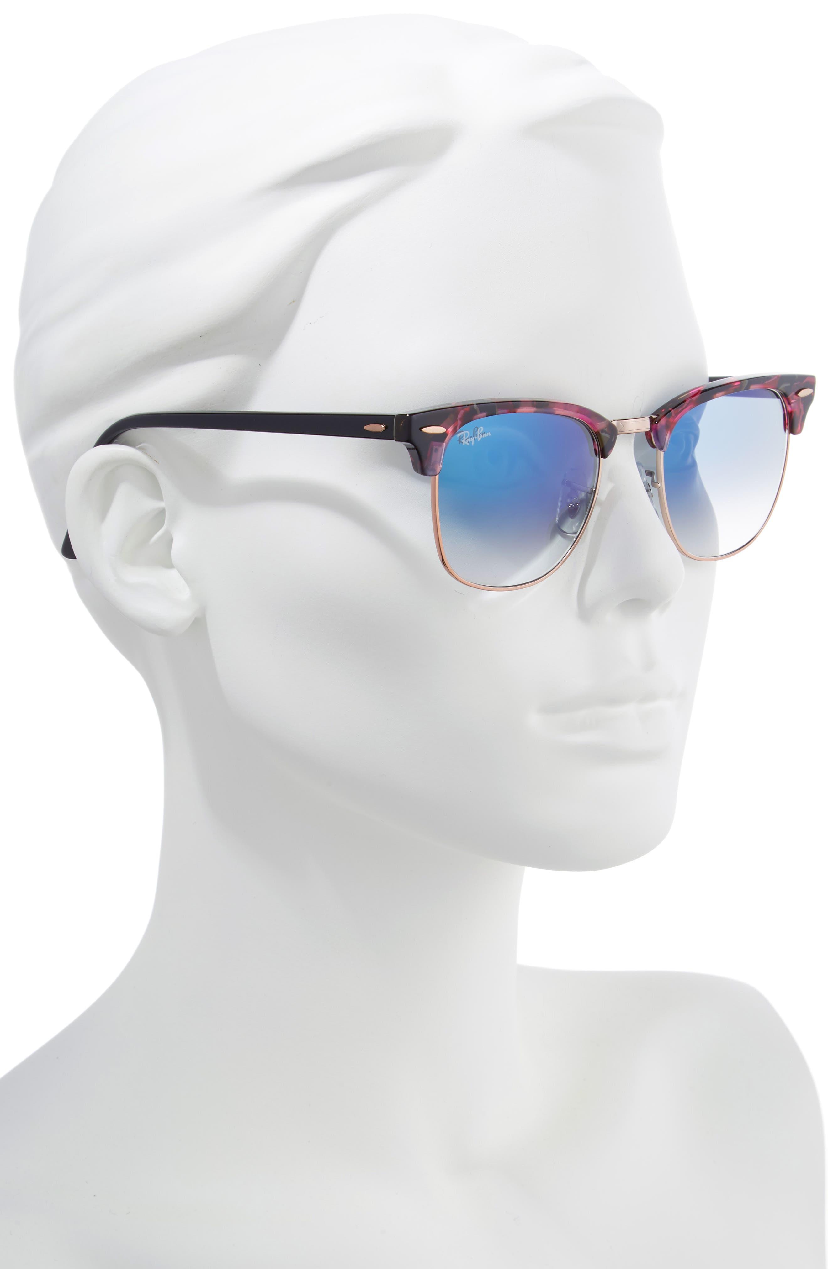 Clubmaster 51mm Gradient Sunglasses,                             Alternate thumbnail 2, color,                             GREY/ VIOLET GRADIENT