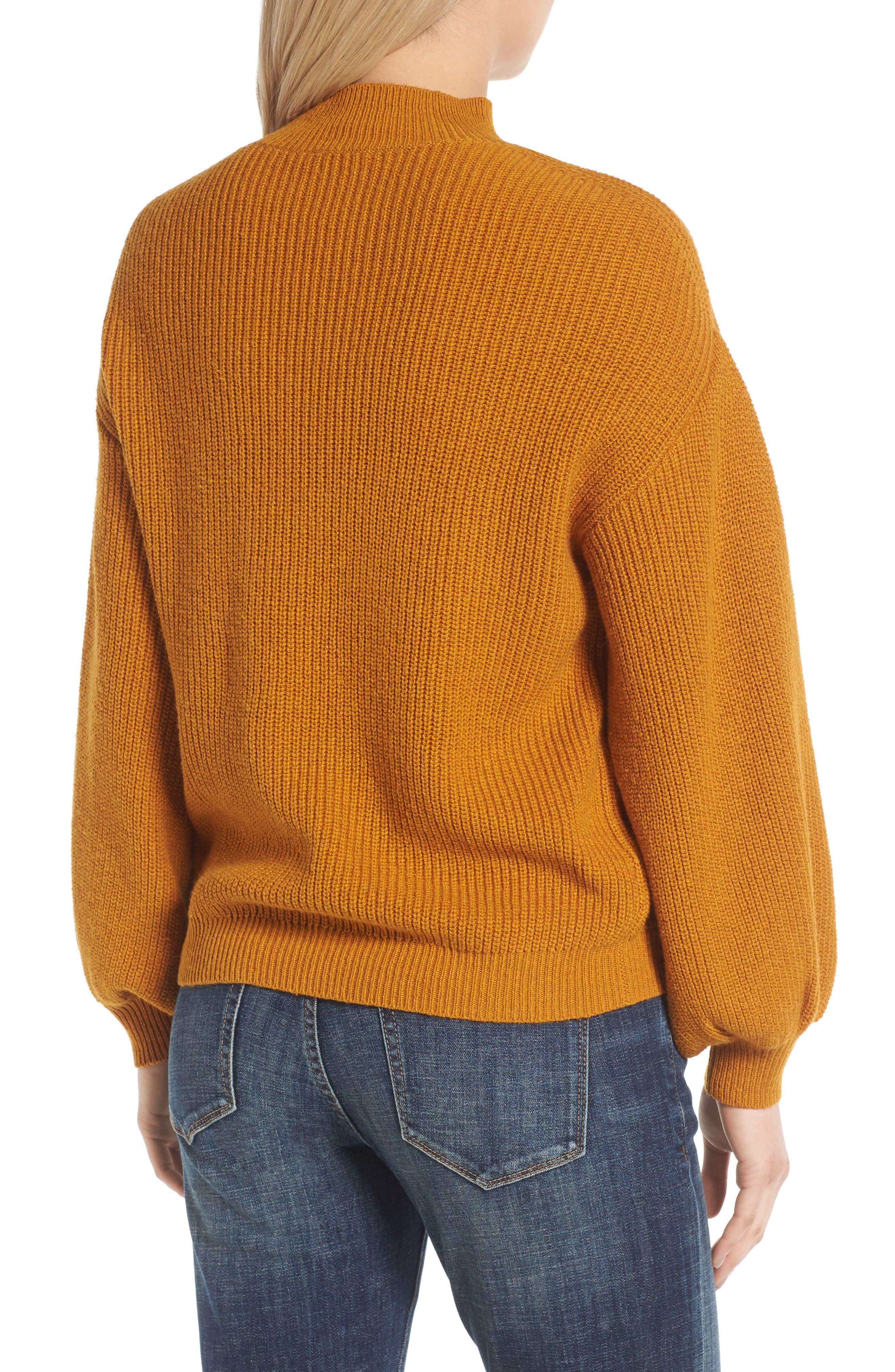 Blouson Sleeve Sweater,                             Alternate thumbnail 7, color,