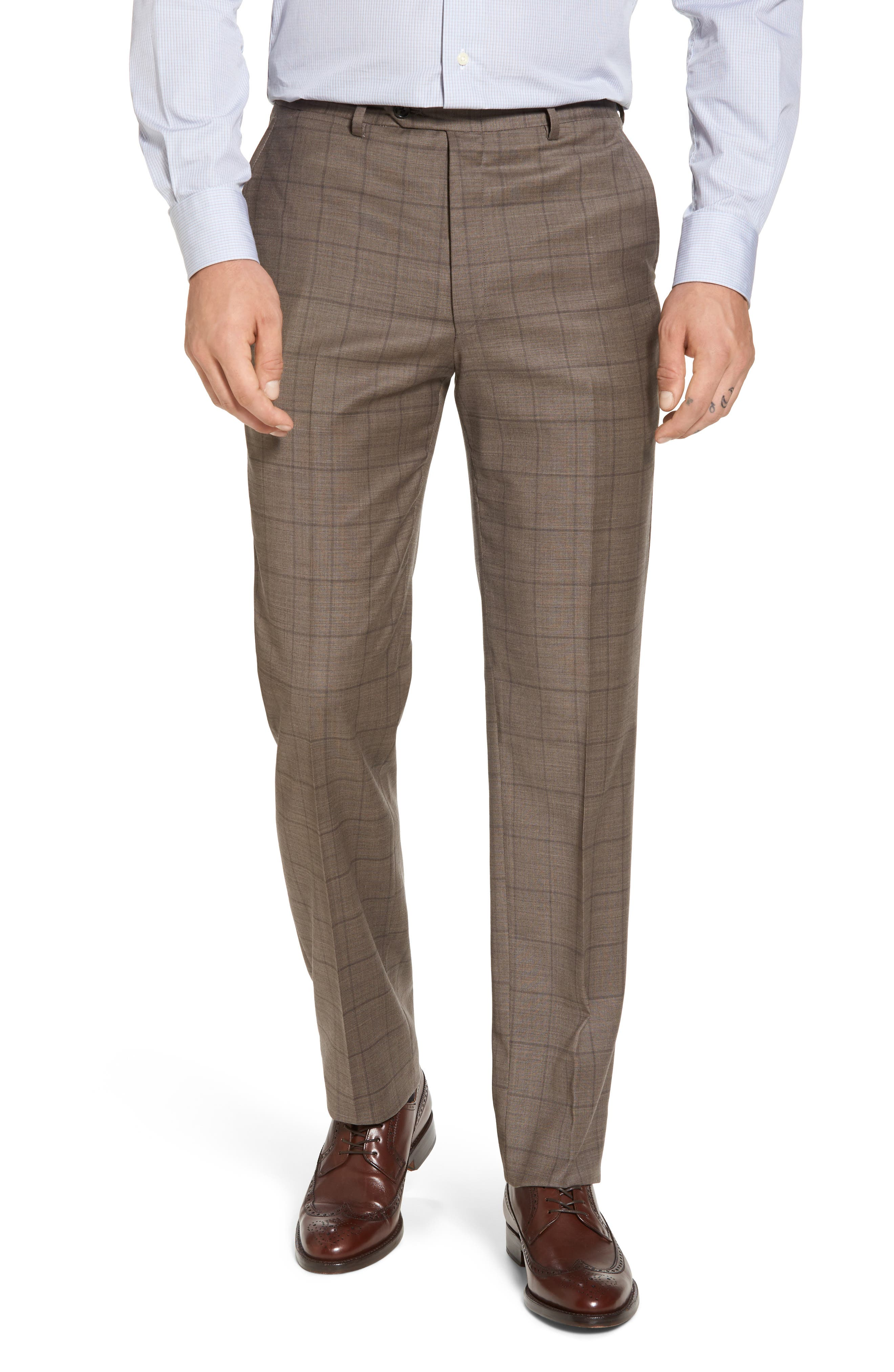 New York Classic Fit Stretch Windowpane Wool Suit,                             Alternate thumbnail 6, color,                             210