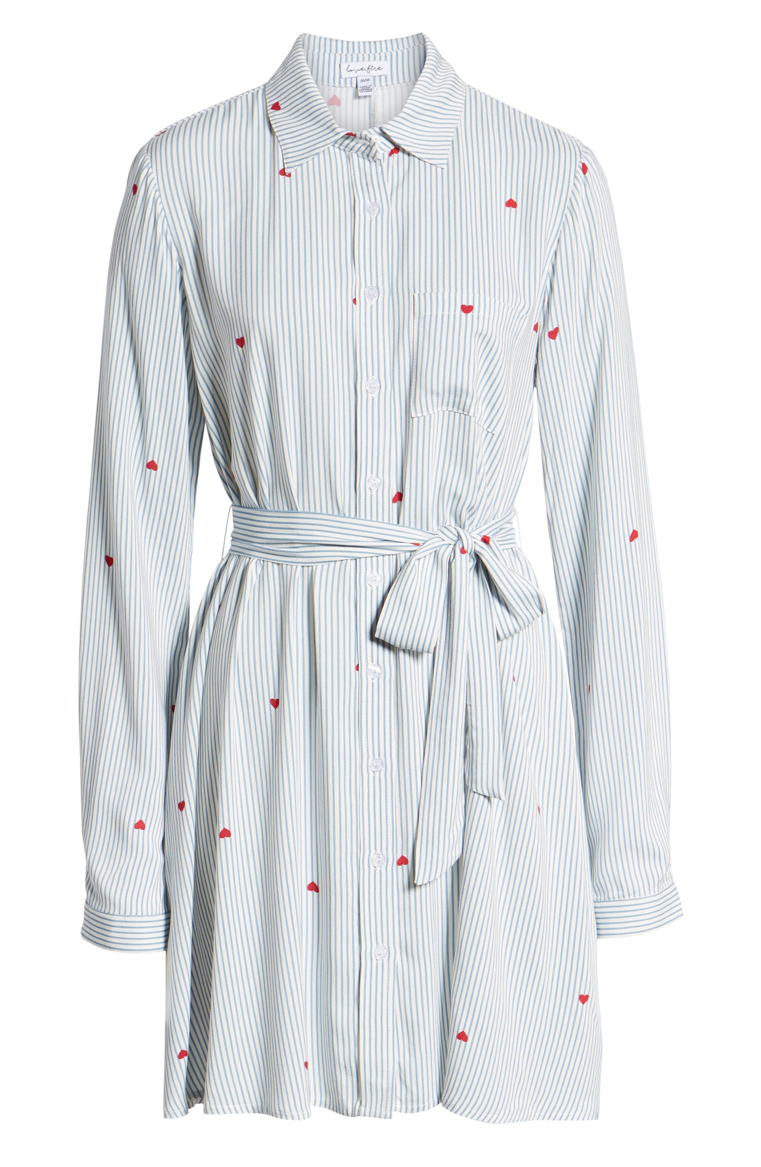 LOVE, FIRE,                             Hattie Heart Shirtdress,                             Alternate thumbnail 7, color,                             400