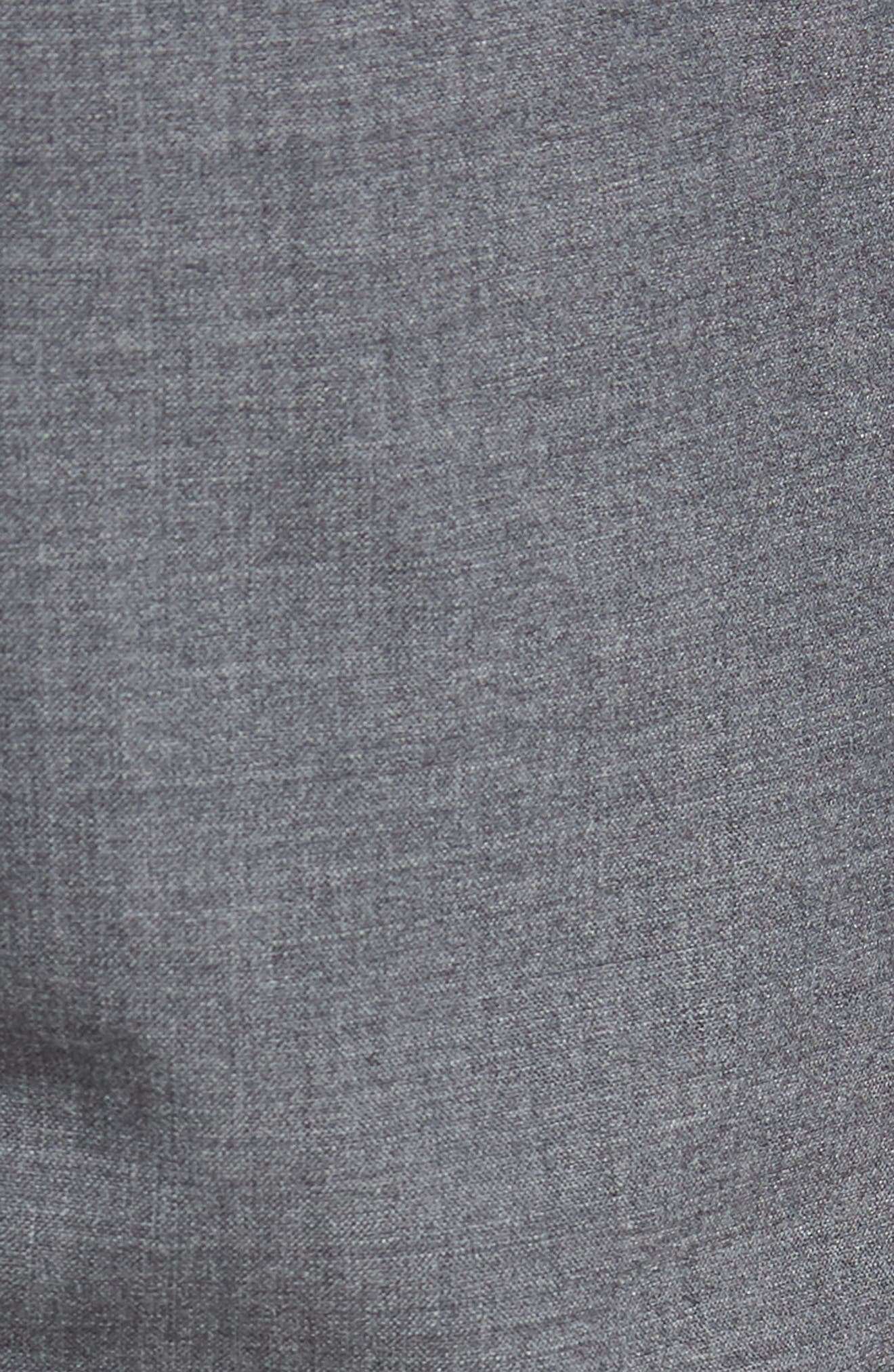 Kaito Slim Fit Wool Trousers,                             Alternate thumbnail 5, color,                             GREY