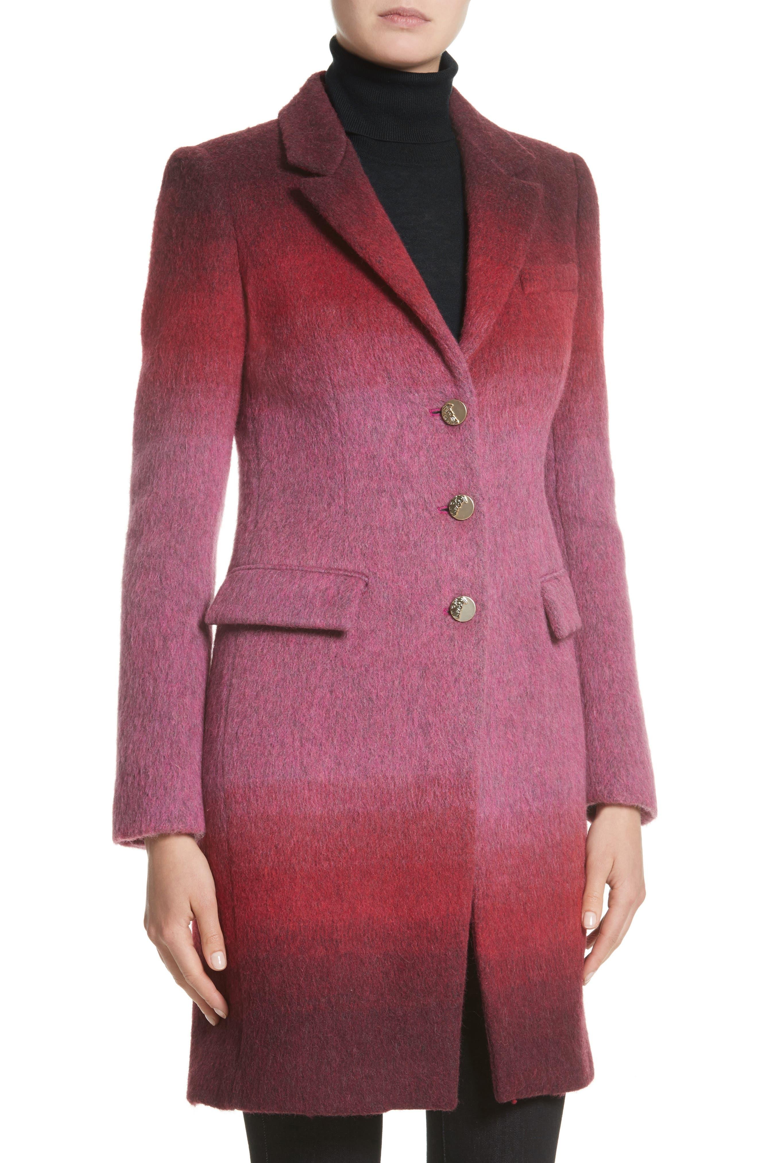 Collection Dégradé Wool Blend Coat,                             Alternate thumbnail 4, color,                             650