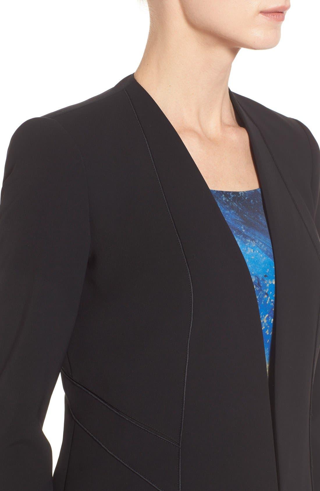 'Sukie' Sleek Tech Cloth Jacket,                             Alternate thumbnail 4, color,                             001