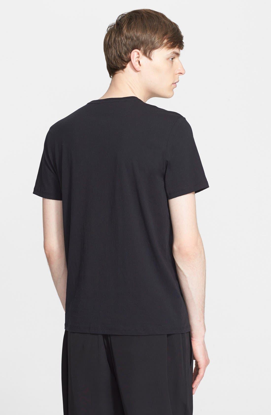 Cotton Jersey T-Shirt,                             Alternate thumbnail 9, color,                             001