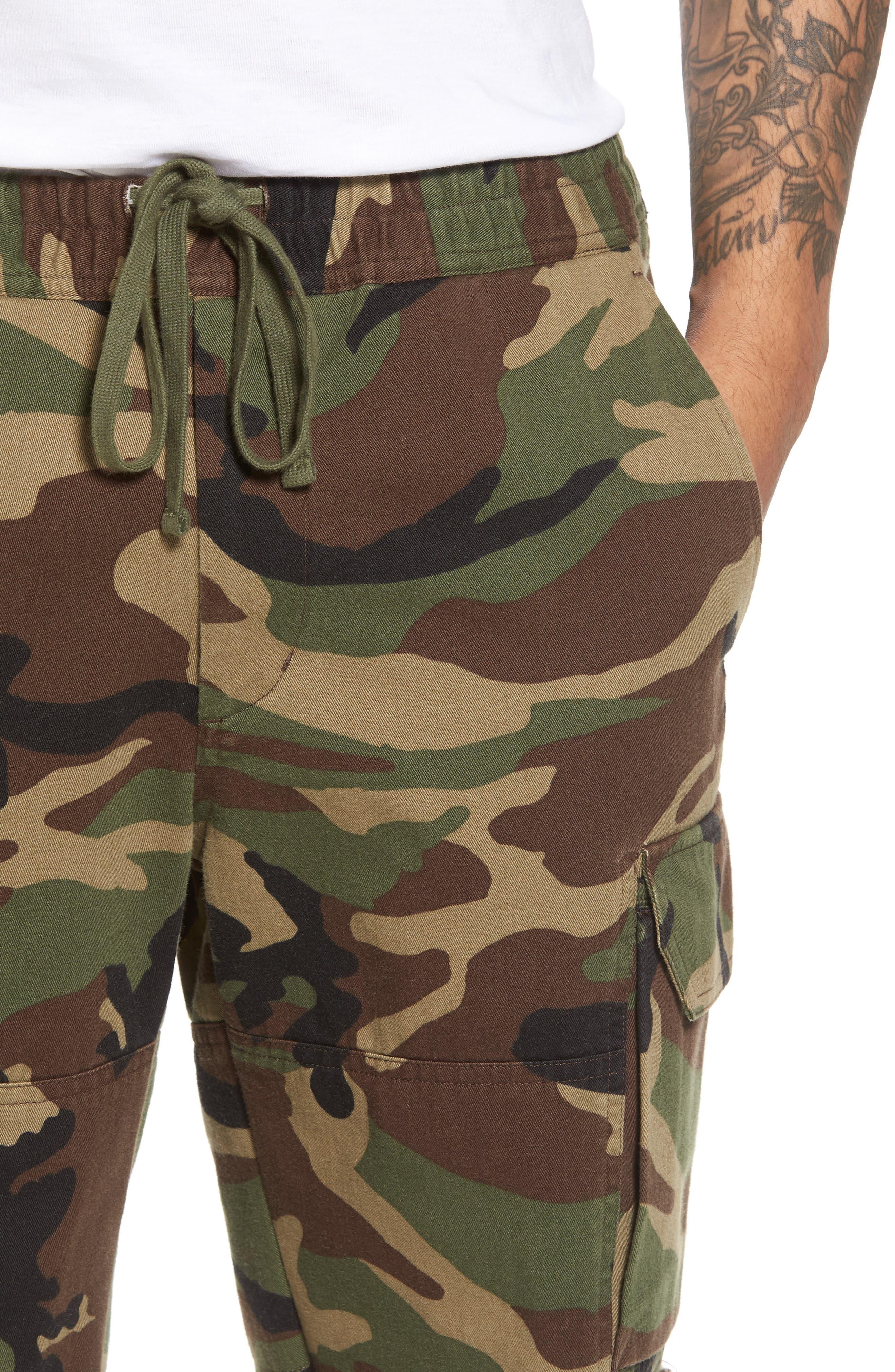 Slim Fit Cargo Shorts,                             Alternate thumbnail 4, color,                             300