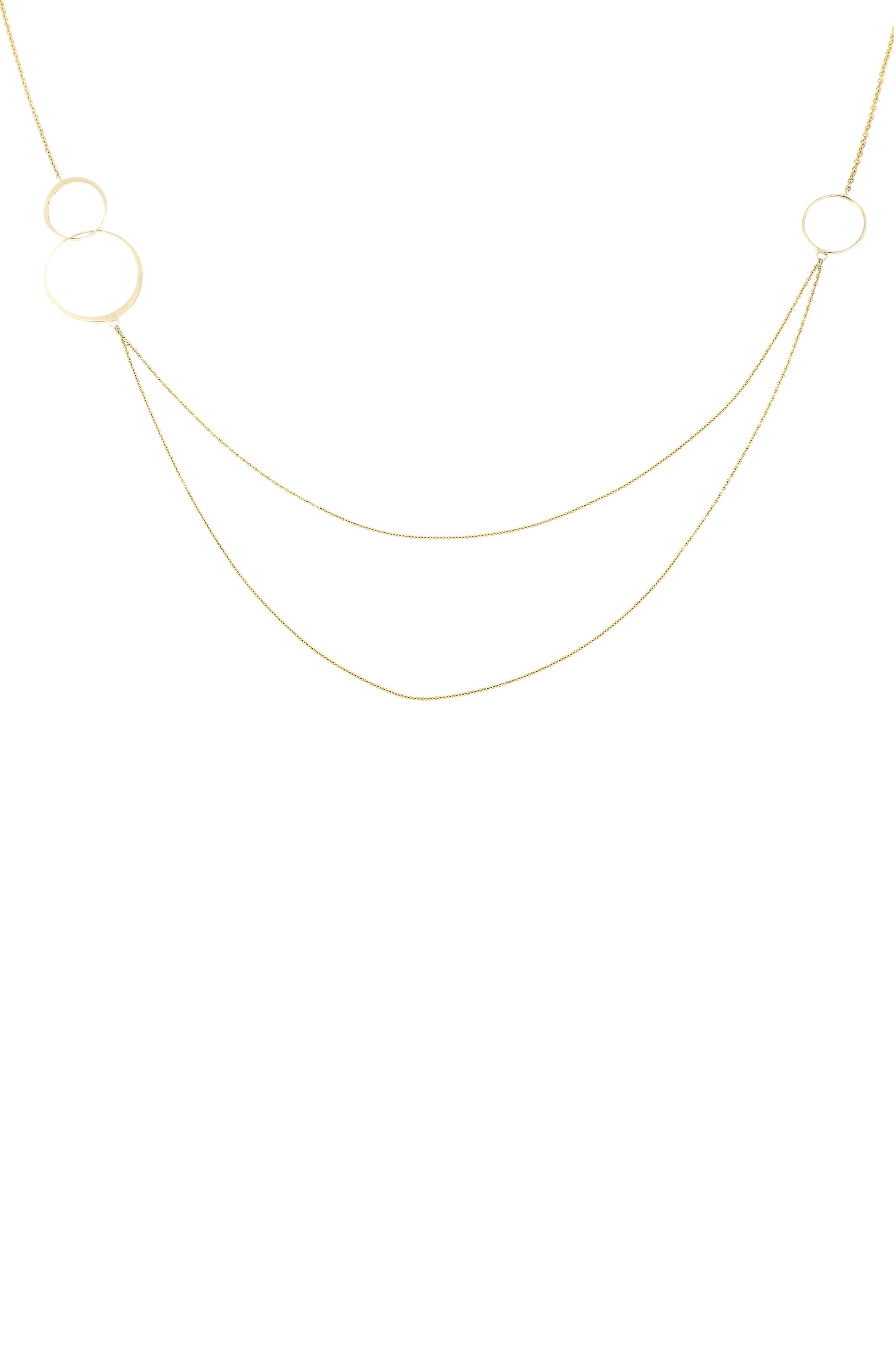 Circle Trio Layered Necklace,                         Main,                         color, YELLOW GOLD