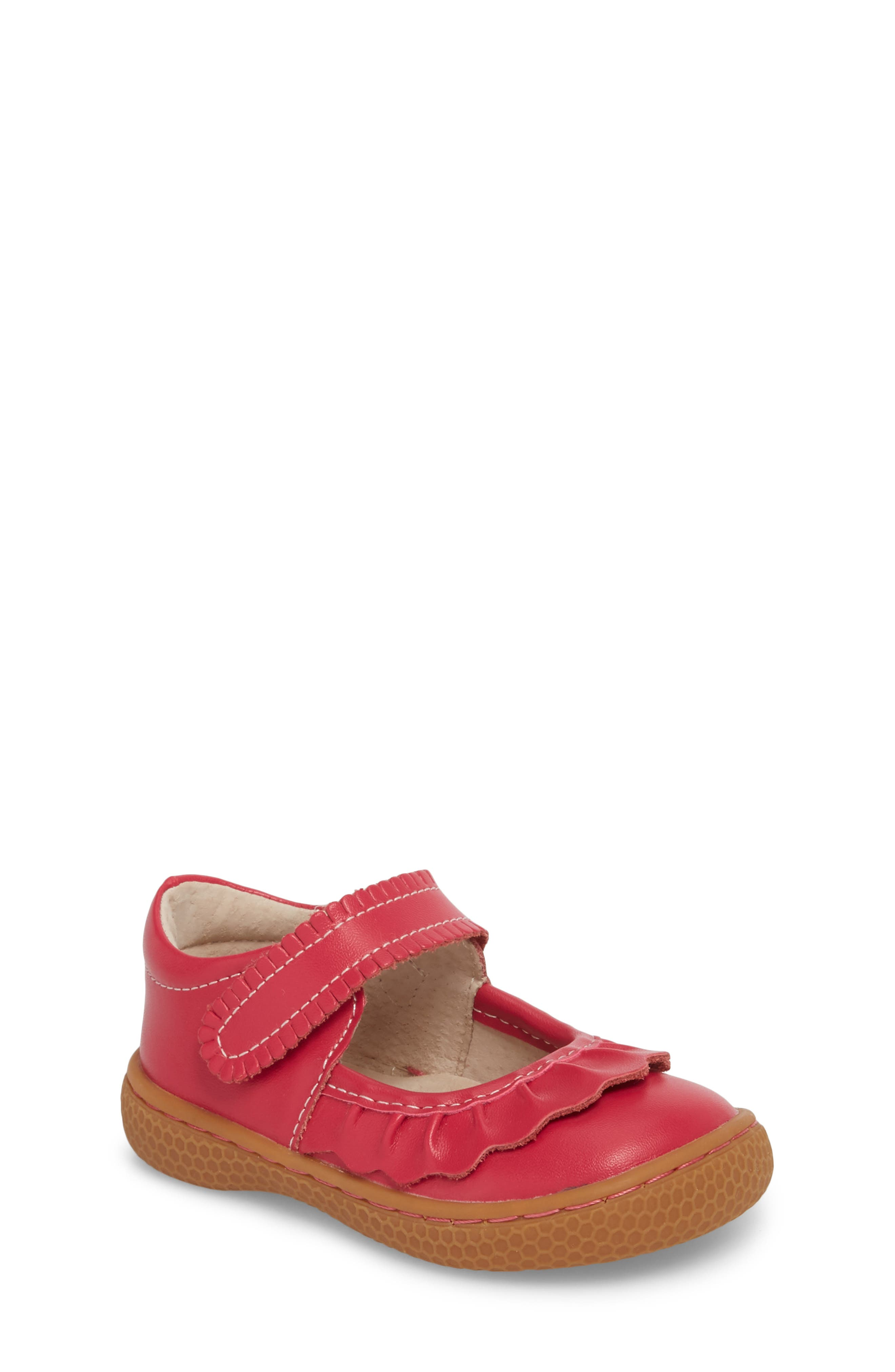 'Ruche' Mary Jane,                         Main,                         color, HOT PINK