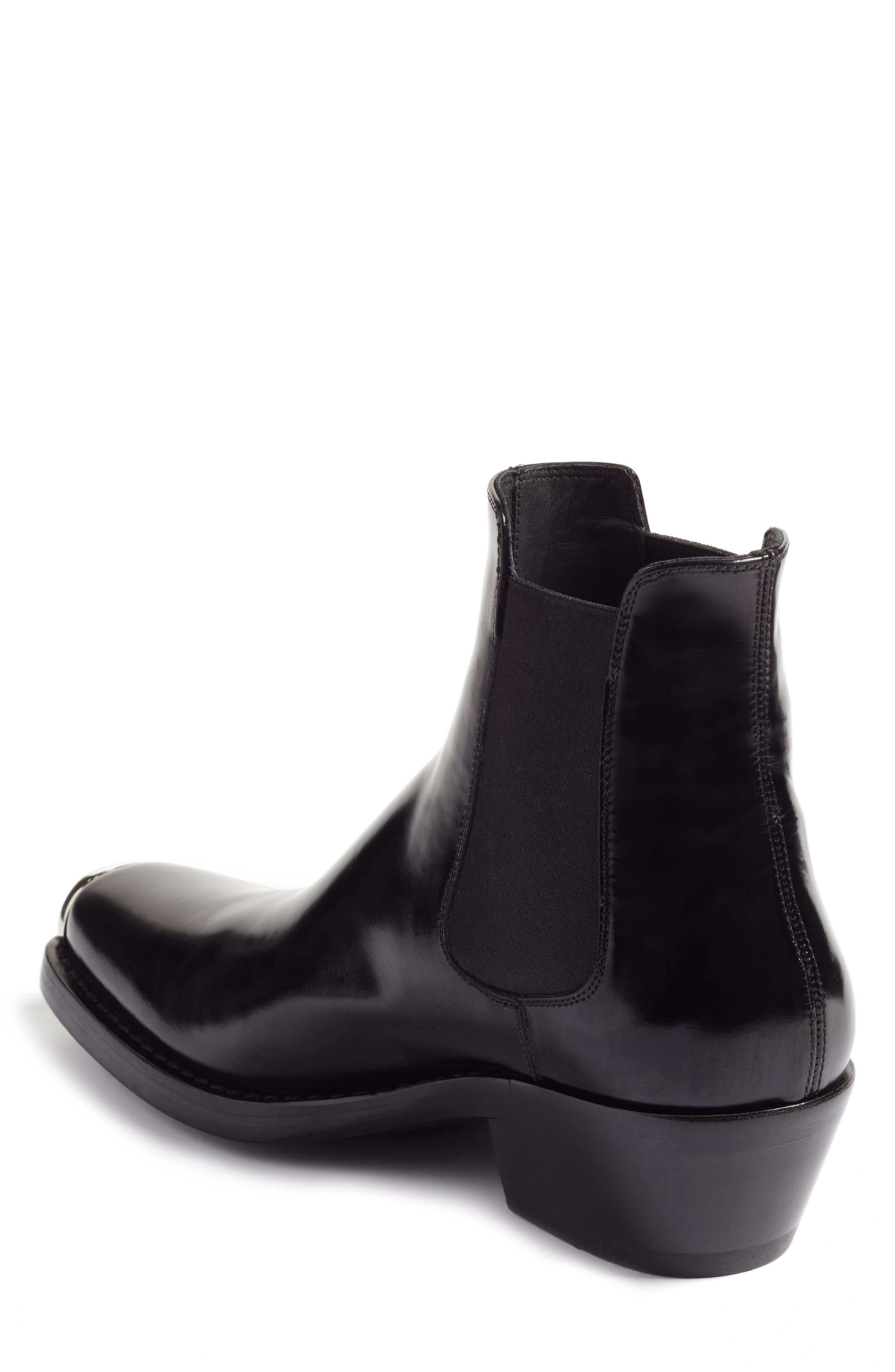 Claire Western Chelsea Boot,                             Alternate thumbnail 2, color,                             BLACK ABRASIVATO
