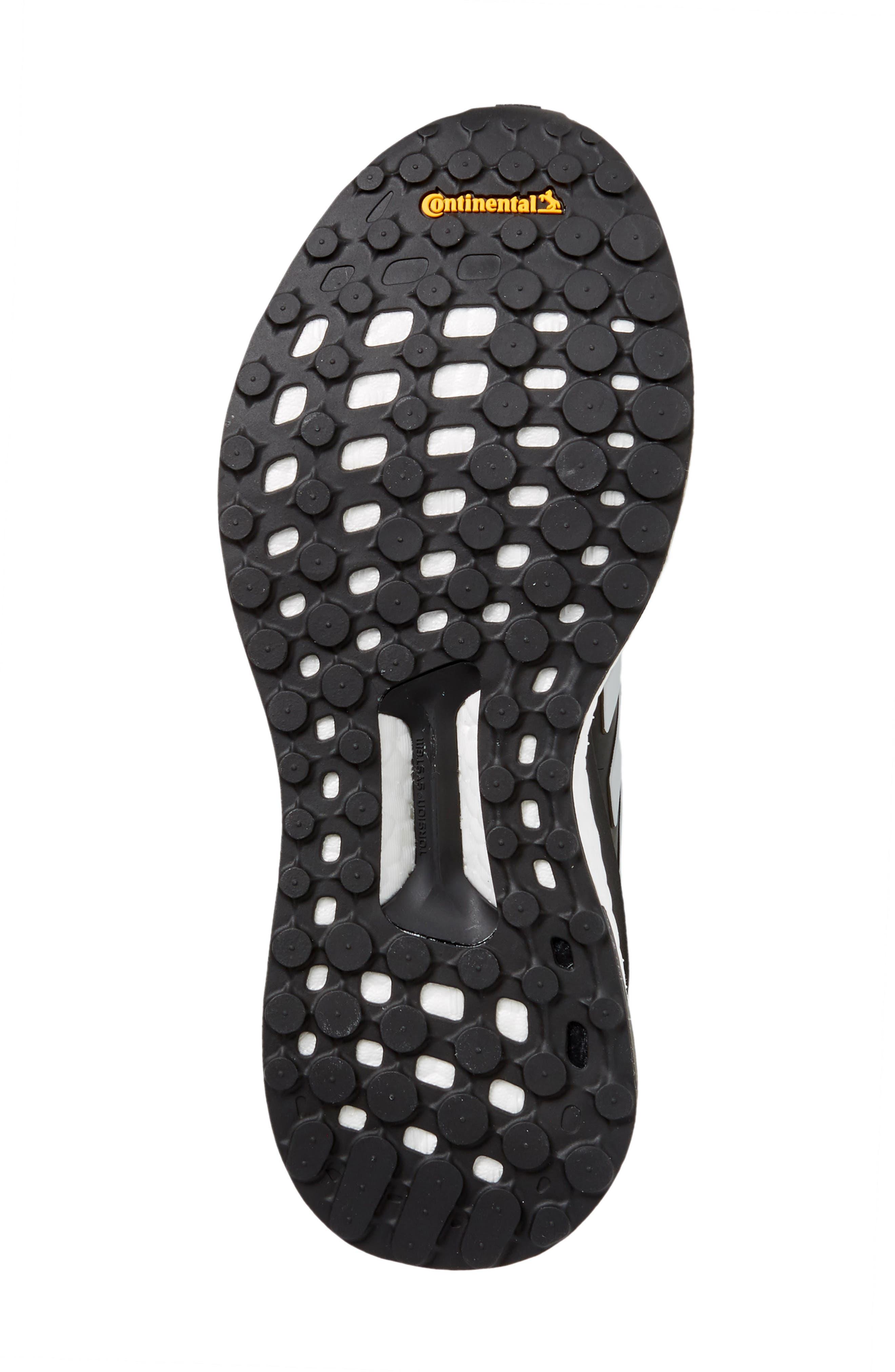 Solar Glide Running Shoe,                             Alternate thumbnail 6, color,                             BLACK/ WHITE/ BLACK