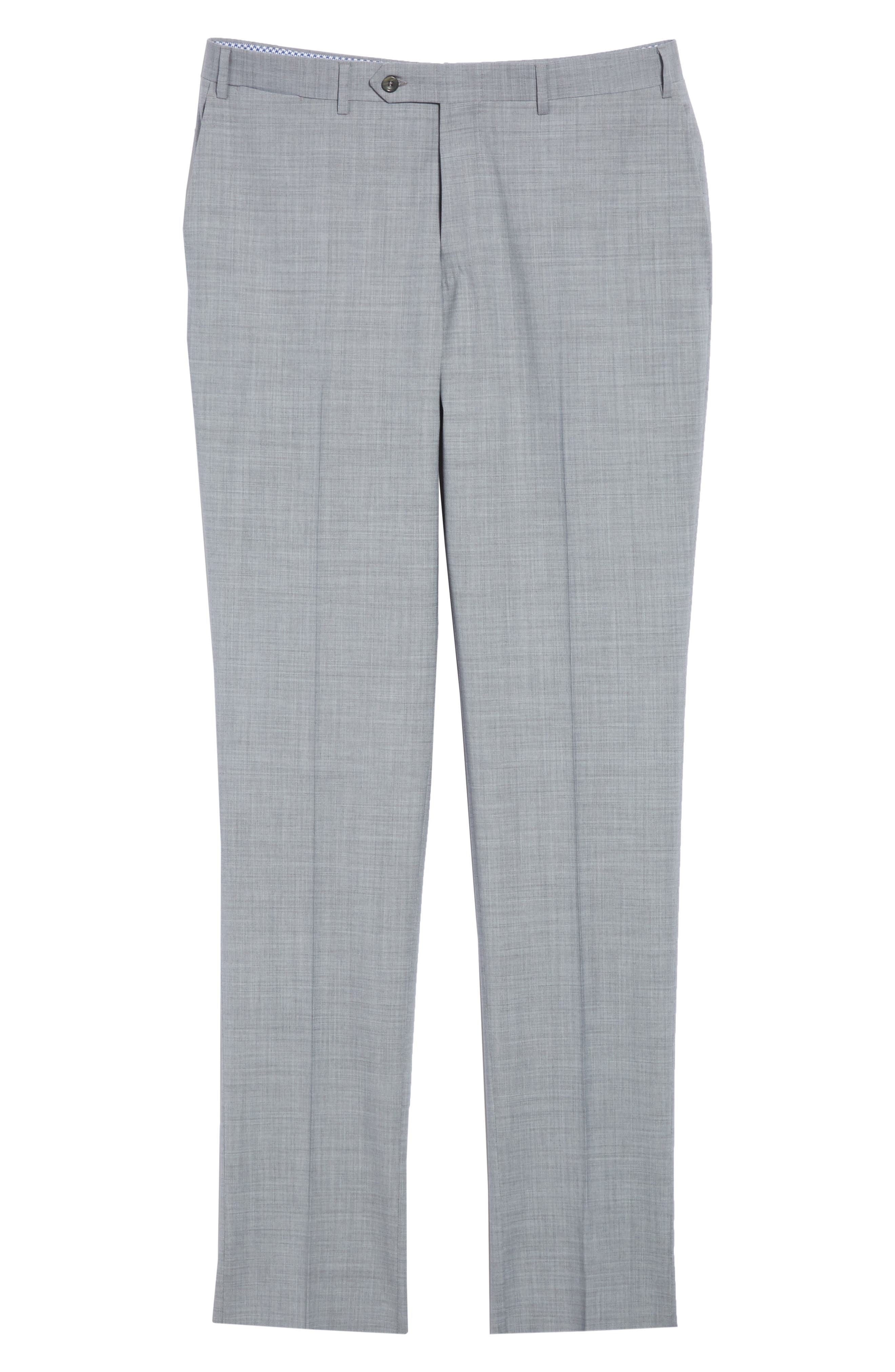 Kei Flat Front Solid Wool Trousers,                             Alternate thumbnail 16, color,