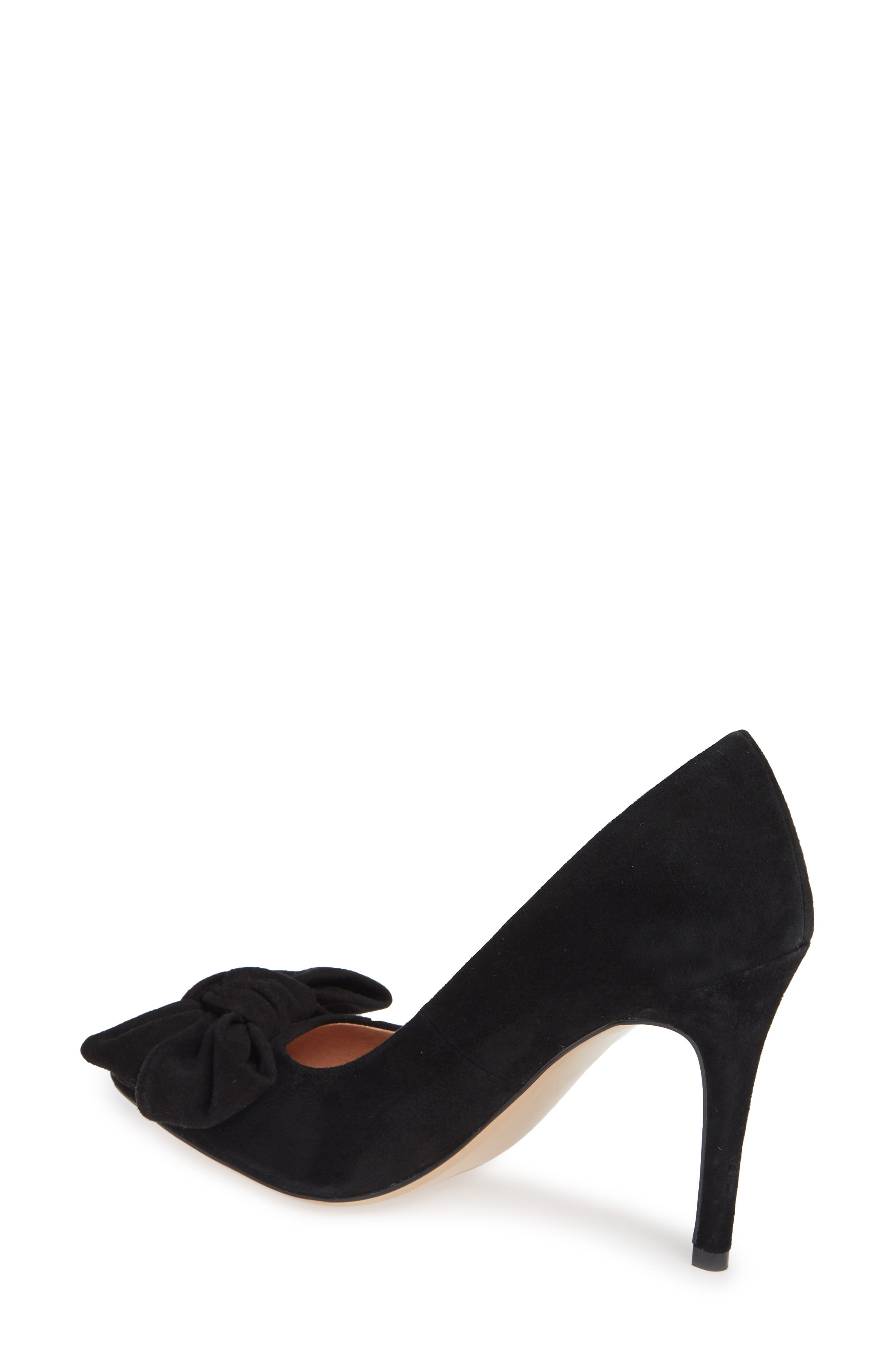 x Atlantic-Pacific Georgiana Bow Pump,                             Alternate thumbnail 4, color,                             BLACK SUEDE
