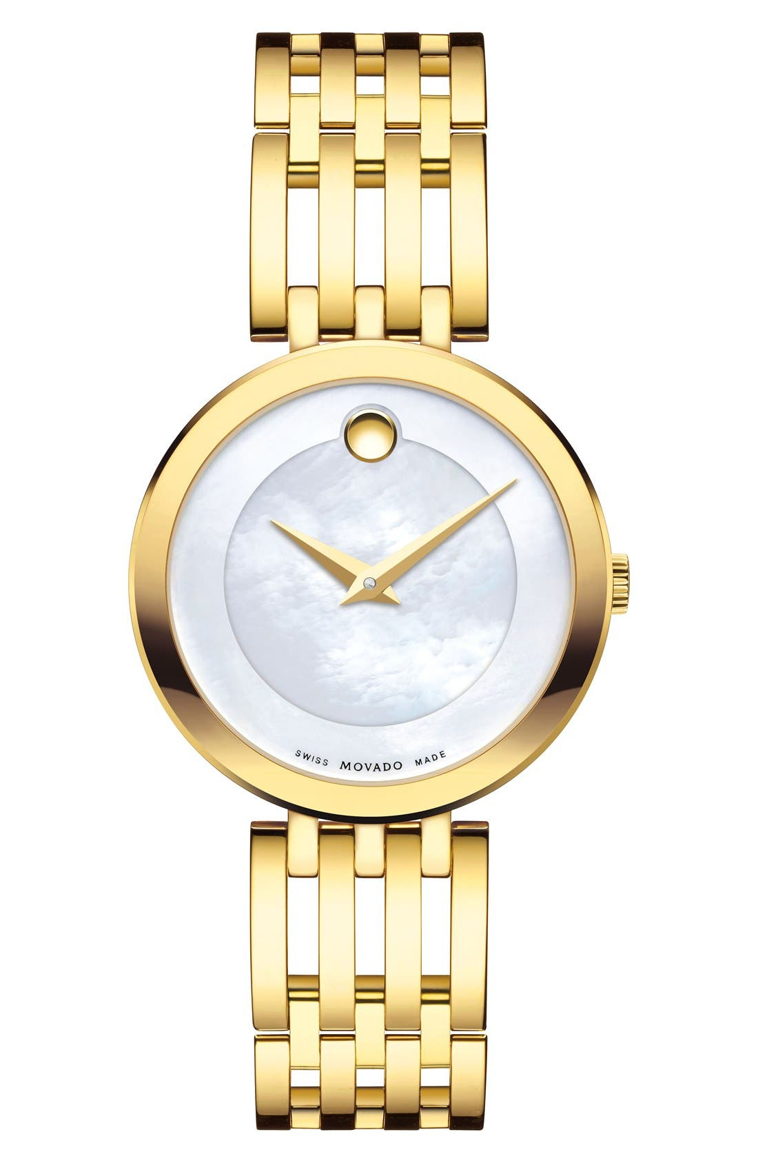 'Esperanza' Bracelet Watch, 28mm,                             Main thumbnail 1, color,                             GOLD/ WHITE MOTHER OF PEARL