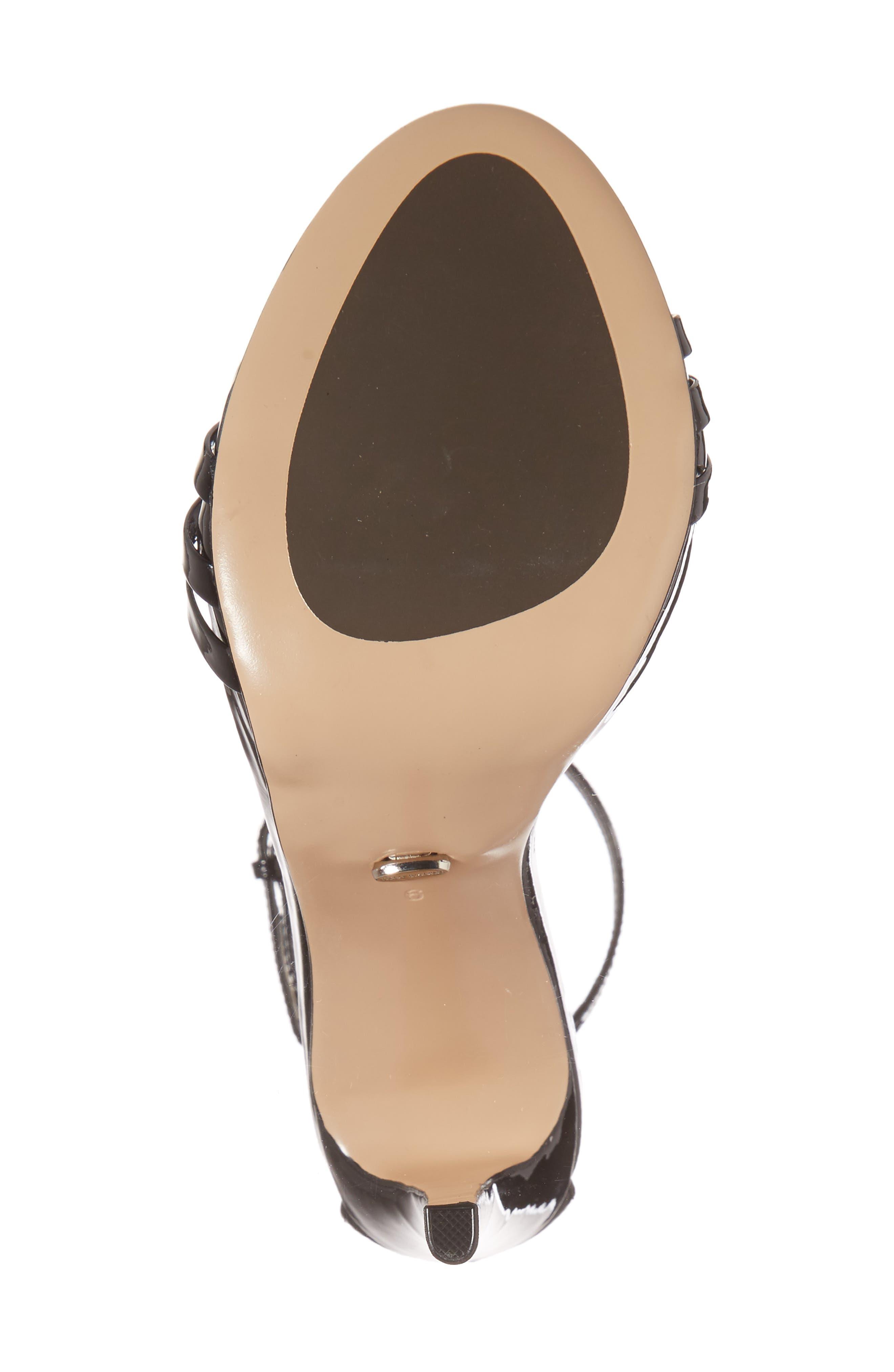 Aroma Strappy Sandal,                             Alternate thumbnail 6, color,                             BLACK PATENT LEATHER