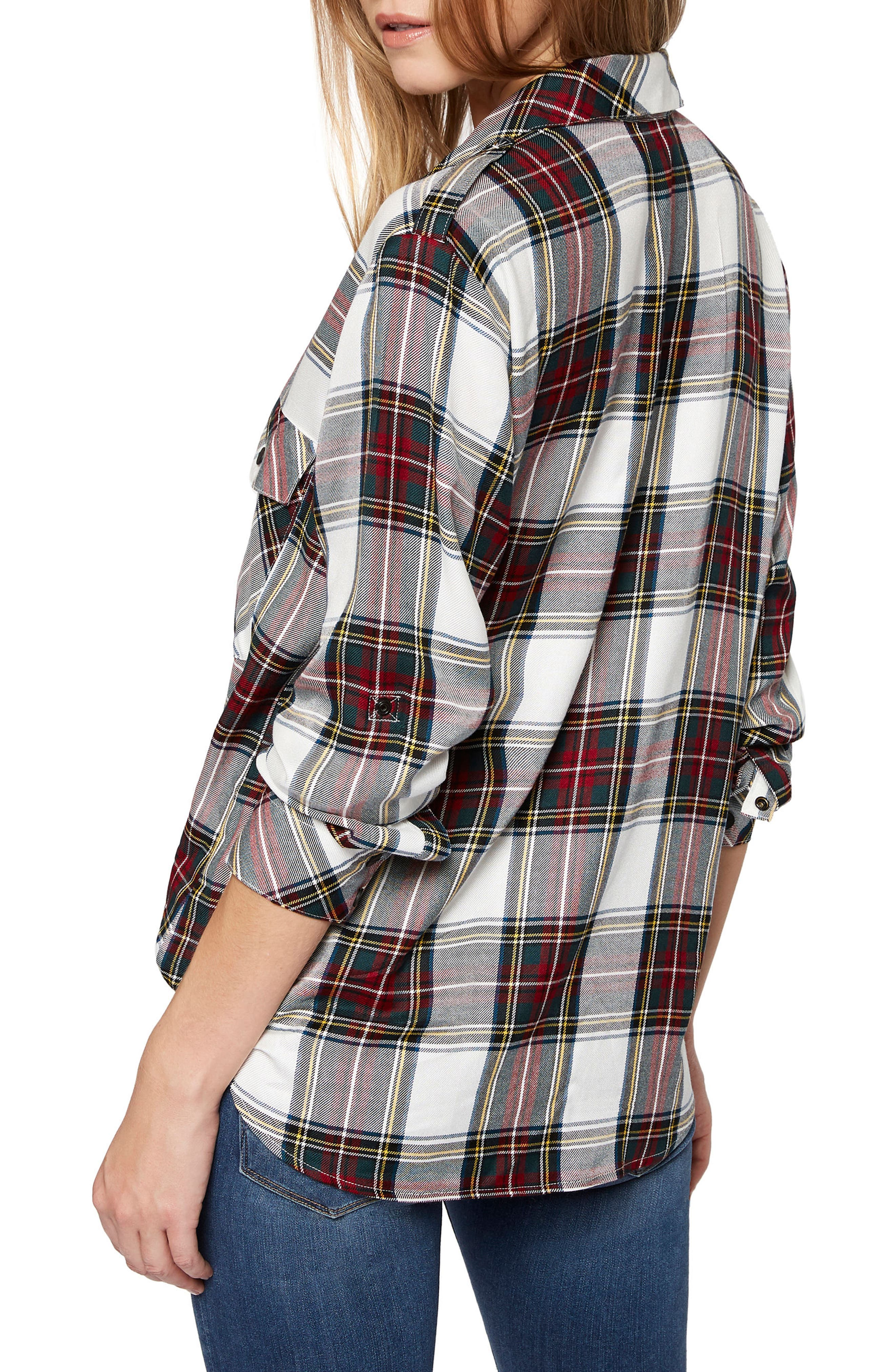 Plaid Boyfriend Shirt,                             Alternate thumbnail 9, color,