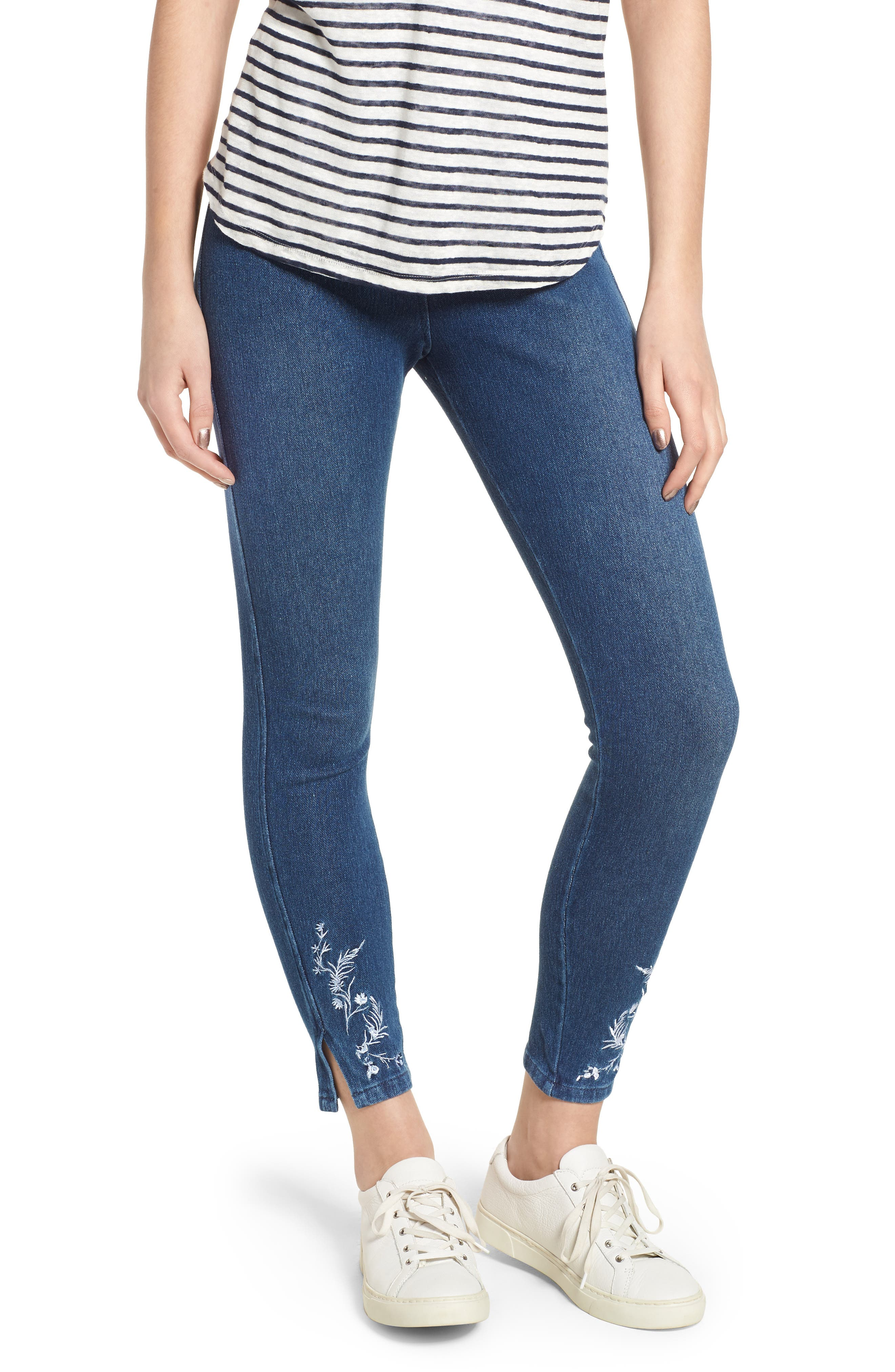 Cooper High Waist Denim Leggings,                             Main thumbnail 1, color,                             400