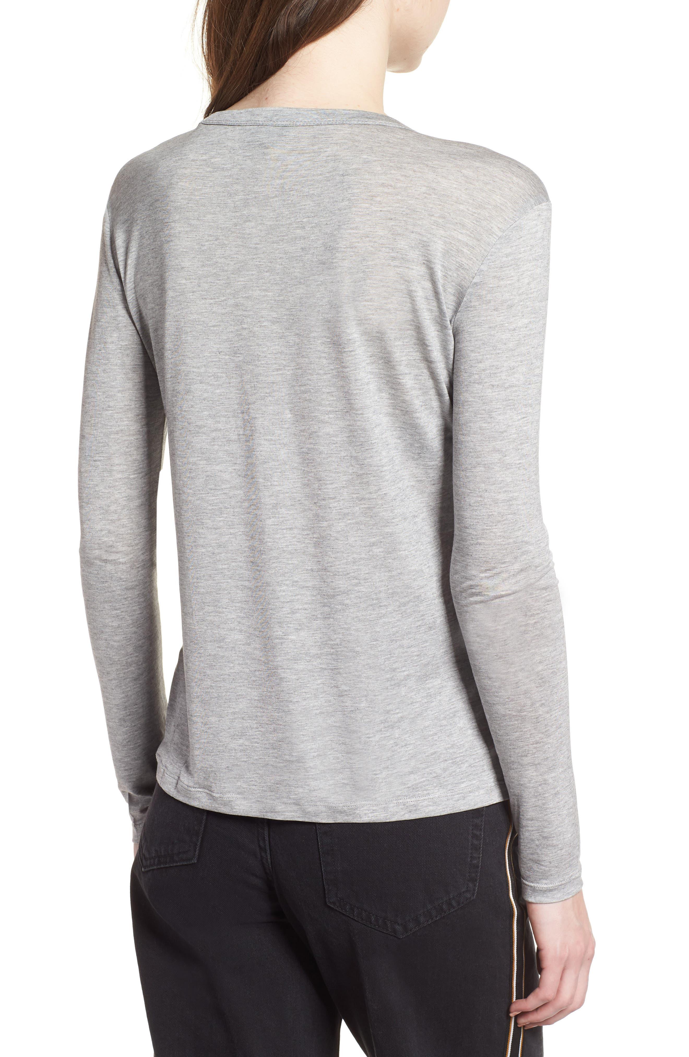 Lyocell Long Sleeve T-Shirt,                             Alternate thumbnail 3, color,