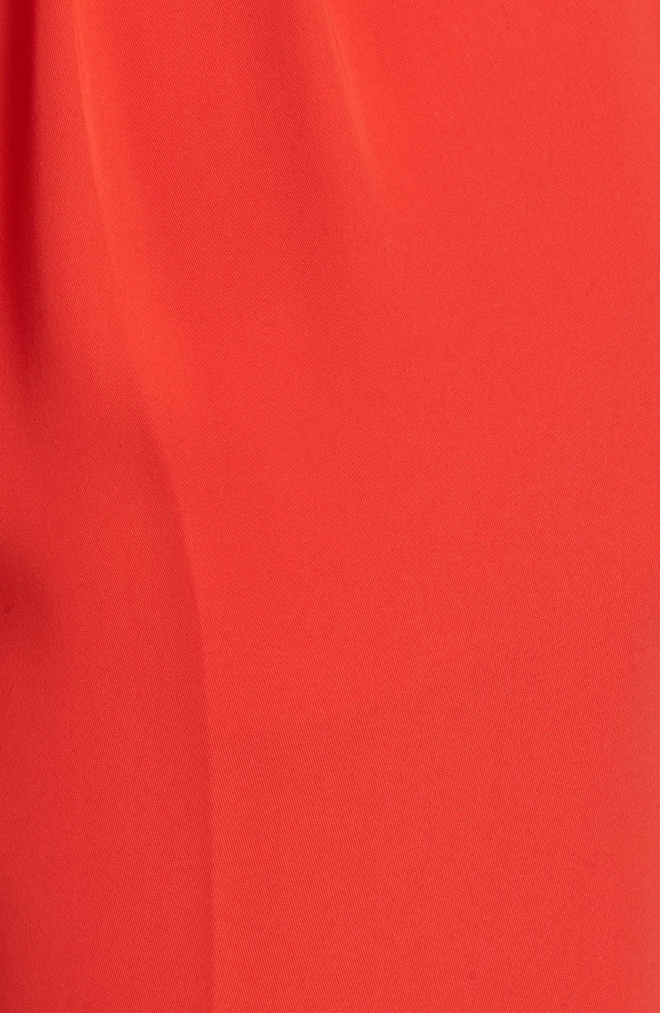 Paperbag Waist Crop Trousers,                             Alternate thumbnail 5, color,