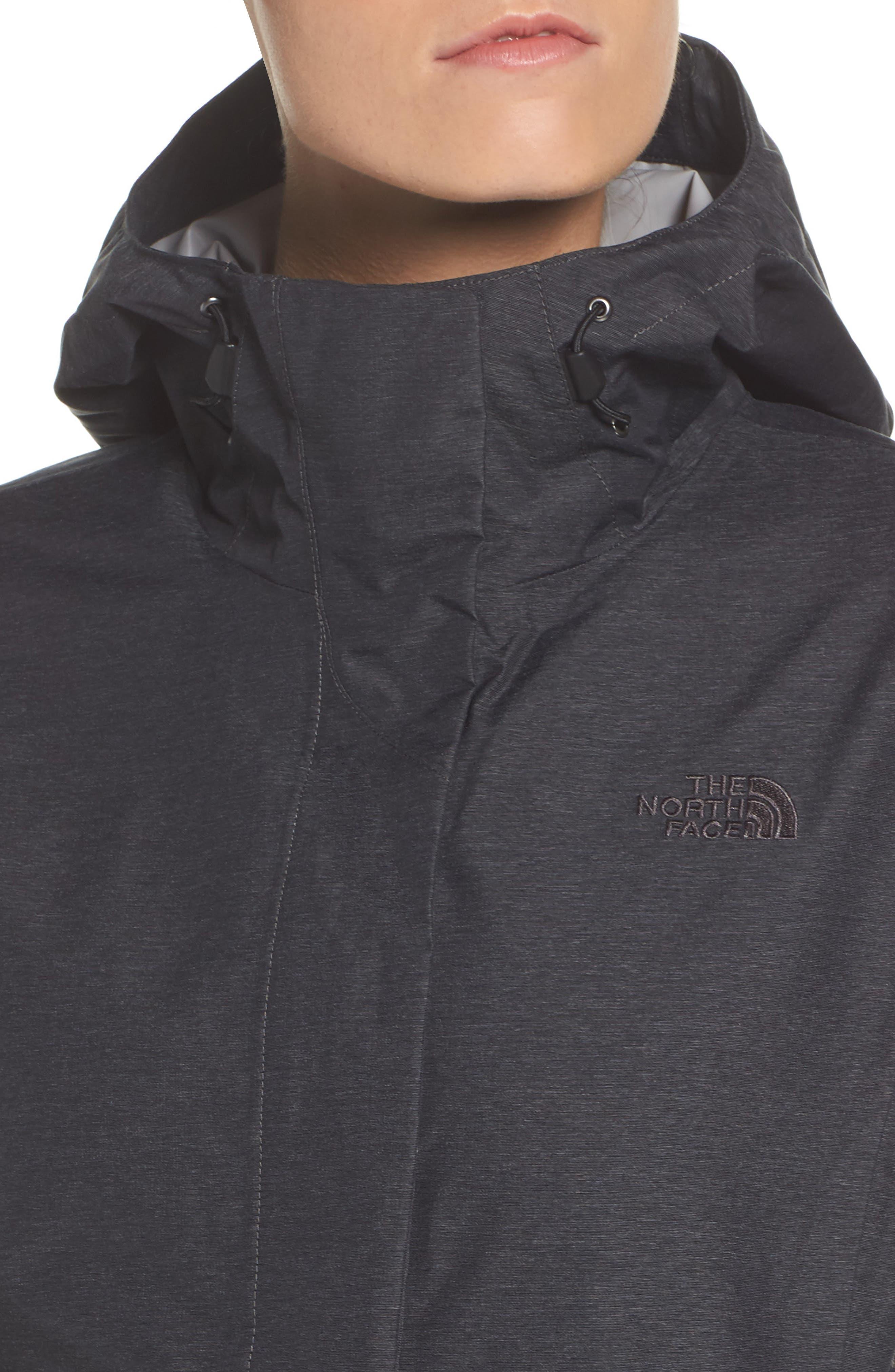 Venture 2 Waterproof Jacket,                             Alternate thumbnail 4, color,                             TNF DARK GREY HEATHER