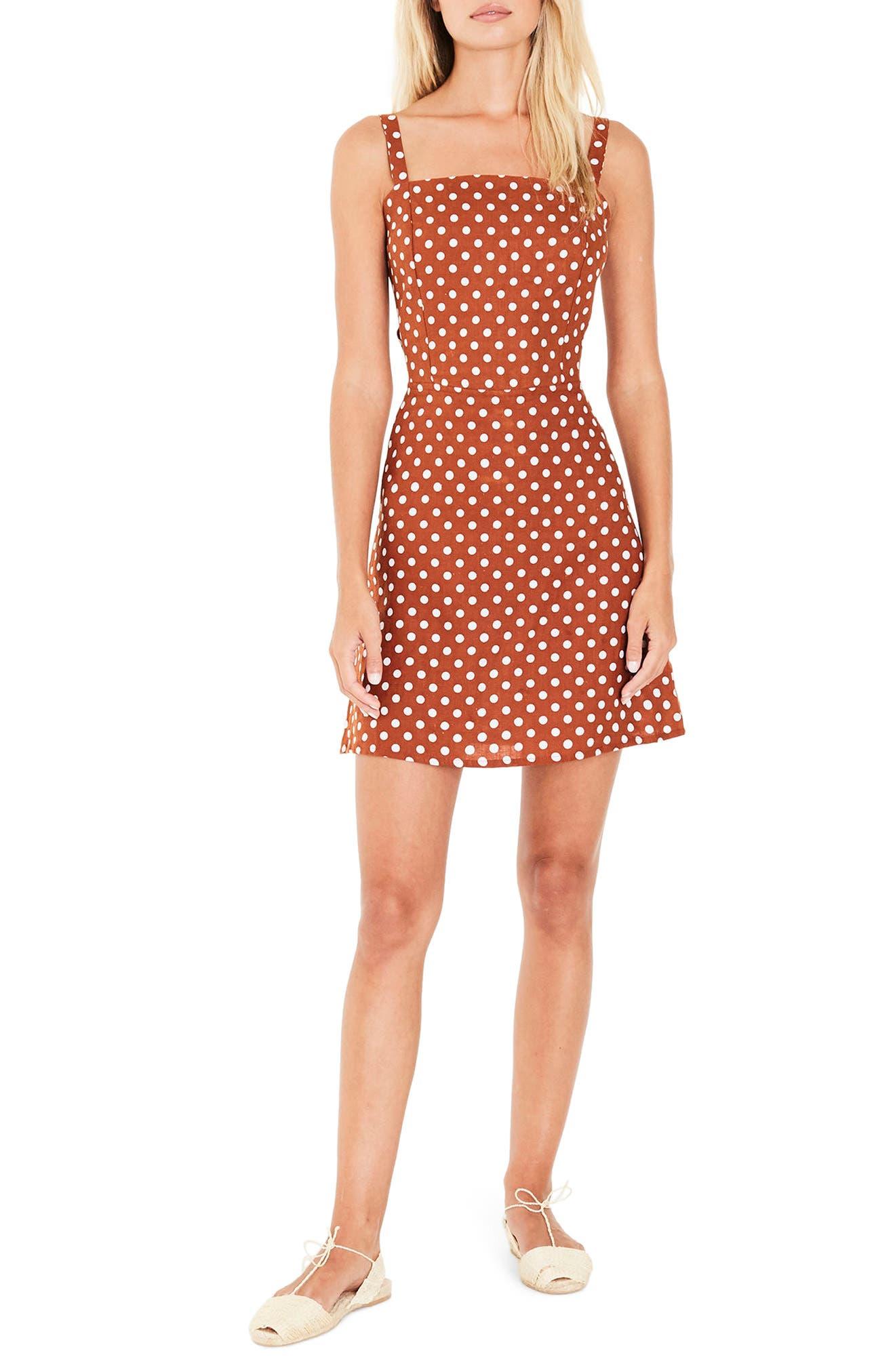 Stepper Polka Dot Sundress,                         Main,                         color, 800