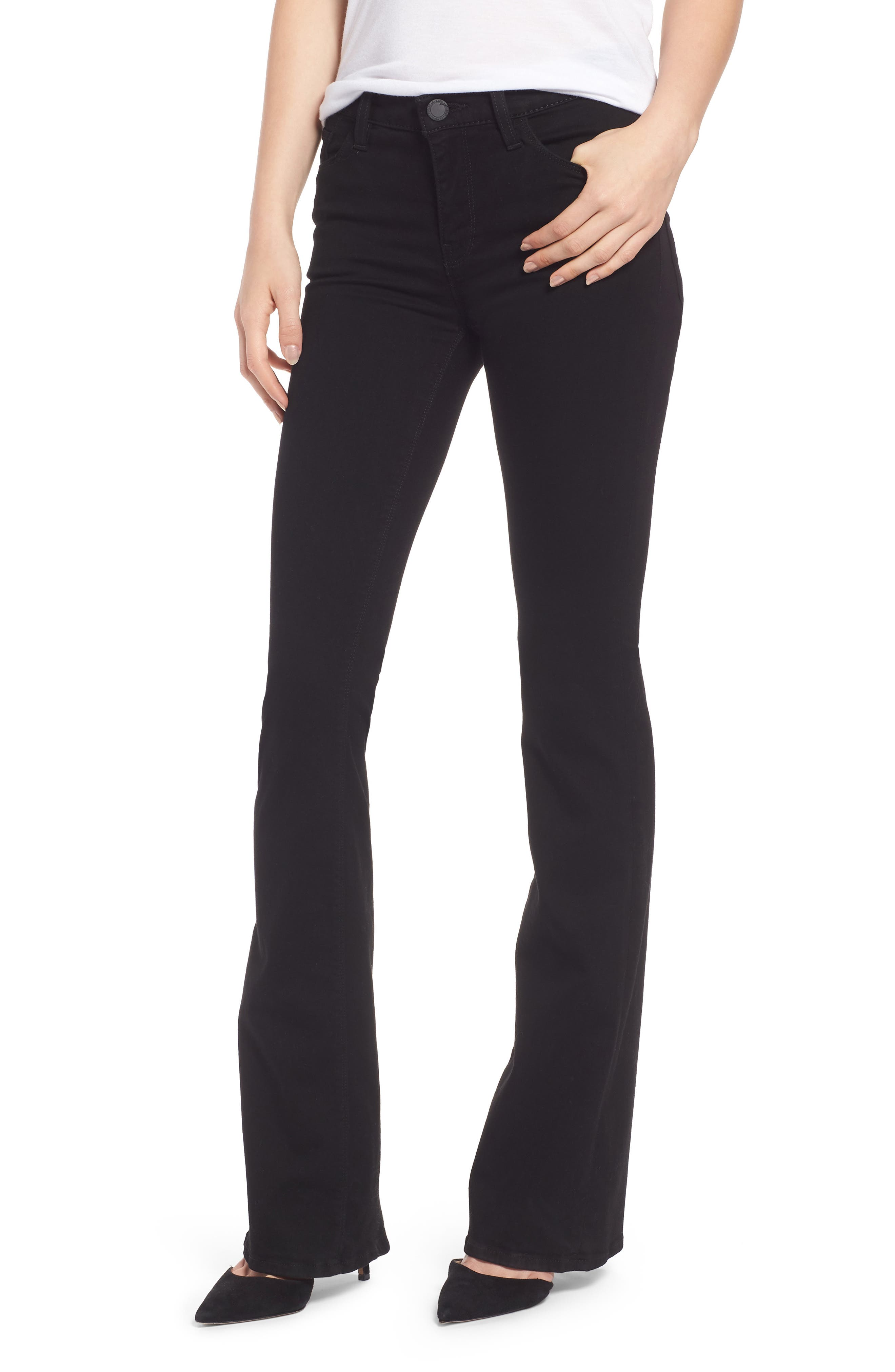 Drew Bootcut Jeans,                         Main,                         color, BLACK