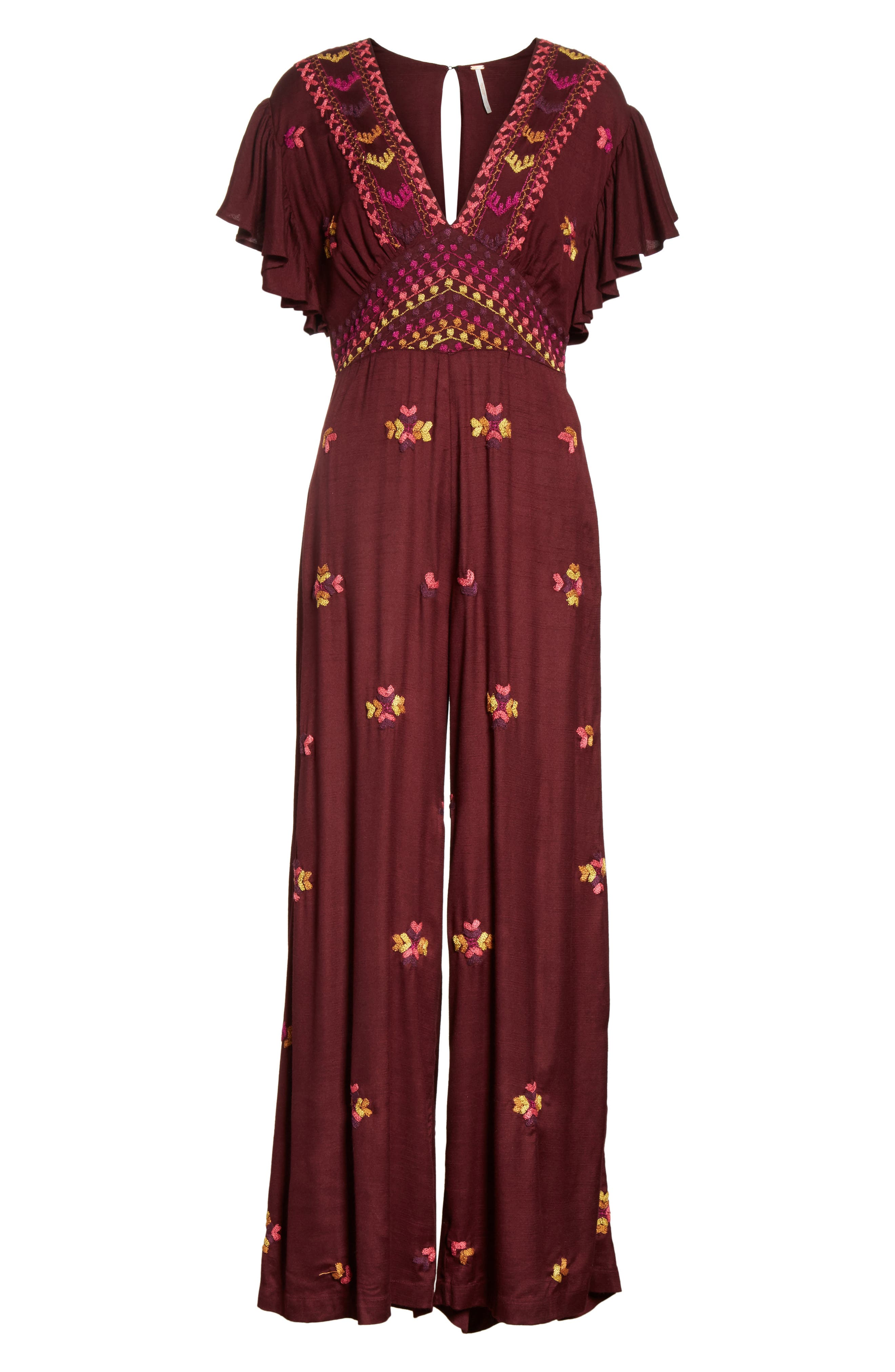 Cleo Embroidered Jumpsuit,                             Alternate thumbnail 6, color,                             500