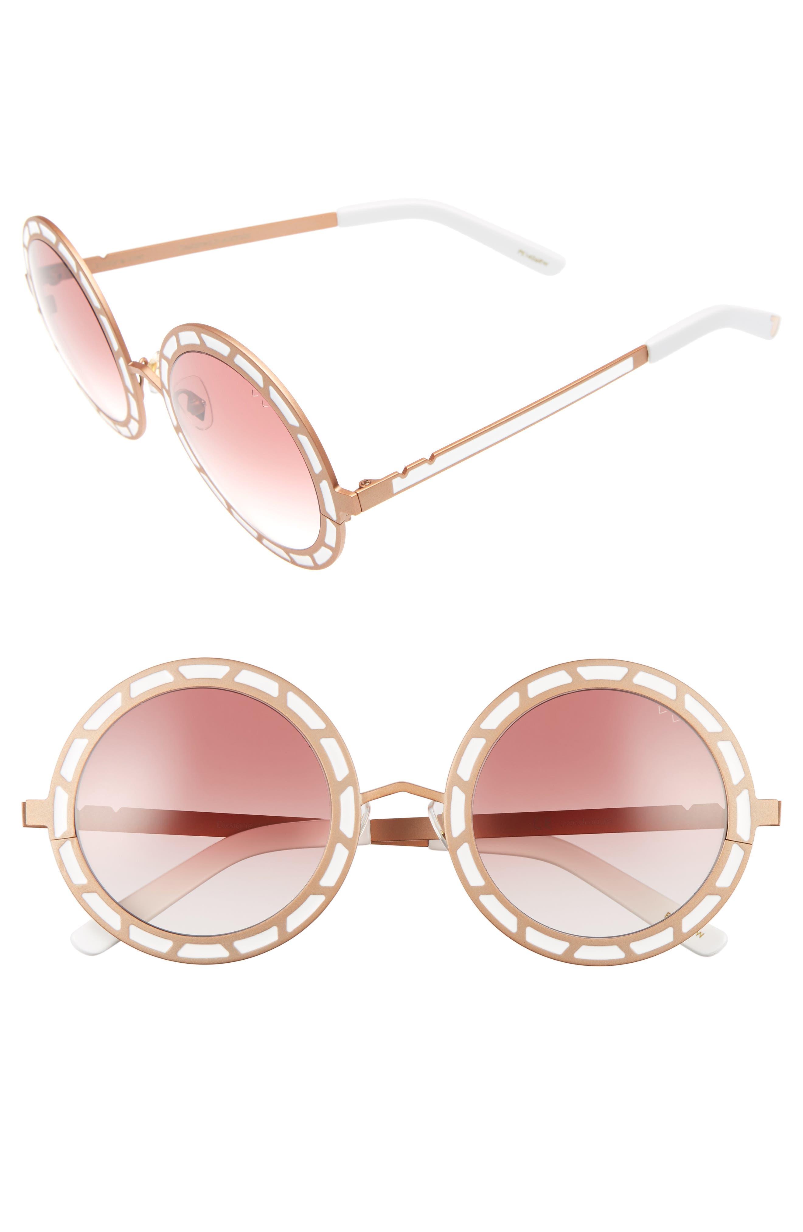 Sonny & Cher 50mm Round Sunglasses,                             Main thumbnail 3, color,