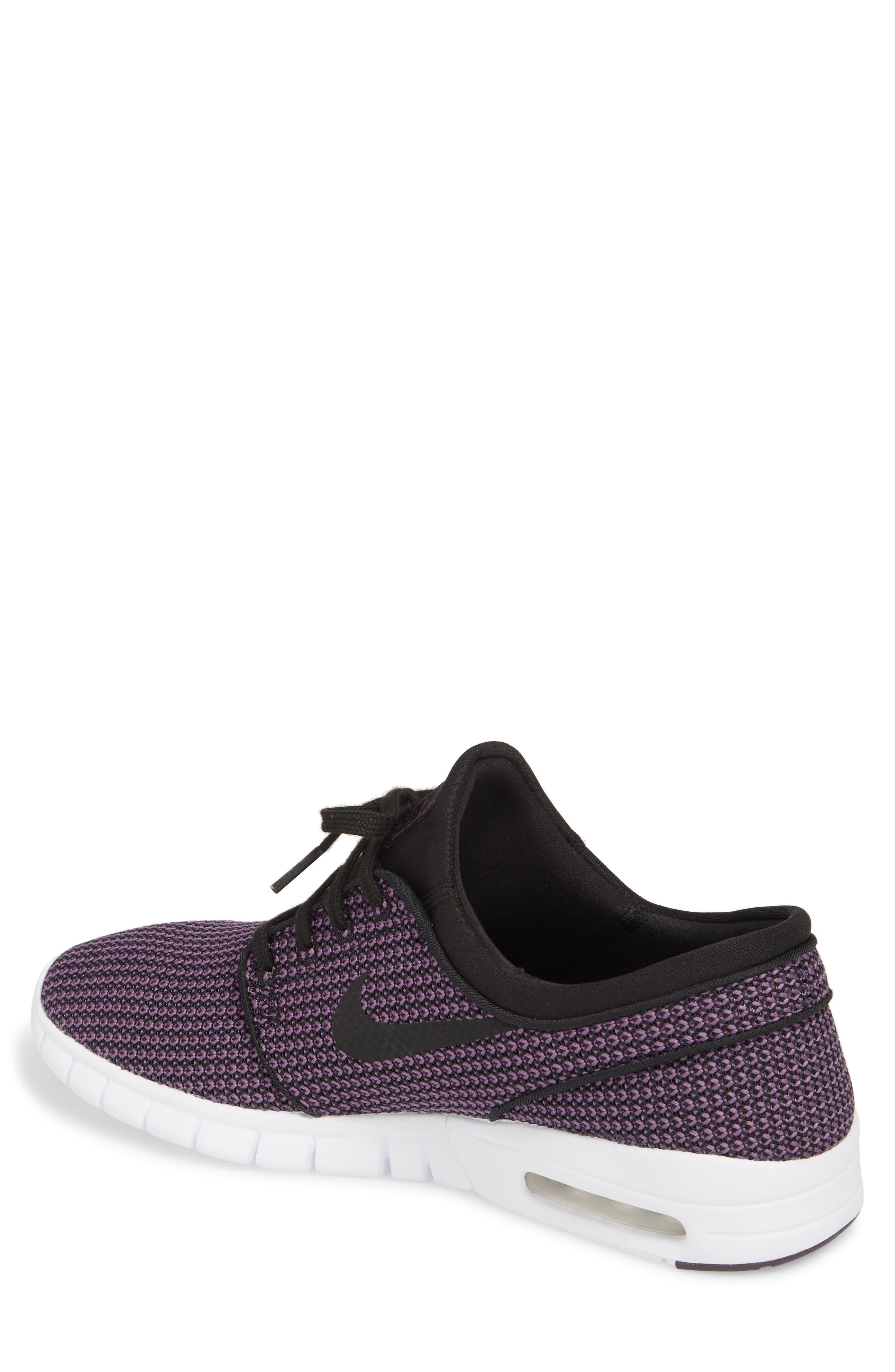 'Stefan Janoski - Max SB' Skate Shoe,                             Alternate thumbnail 3, color,                             BLACK/ PRO PURPLE/ WHITE